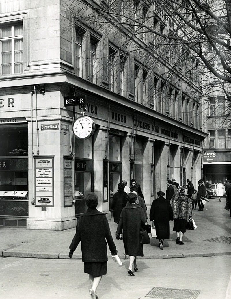 The Beyer store in 1965, in the same building as where it currently resides
