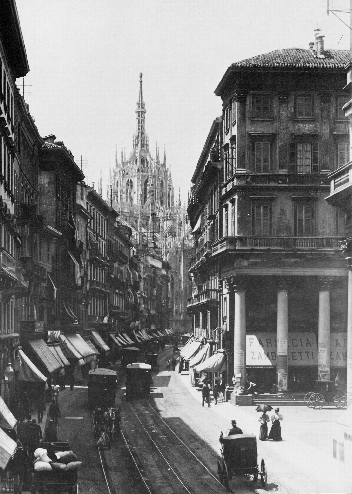 Corso Vittorio Emanuele II, captured in 1890 - just 6 years before Giuseppe Gobbi moved the business to this street in Milan