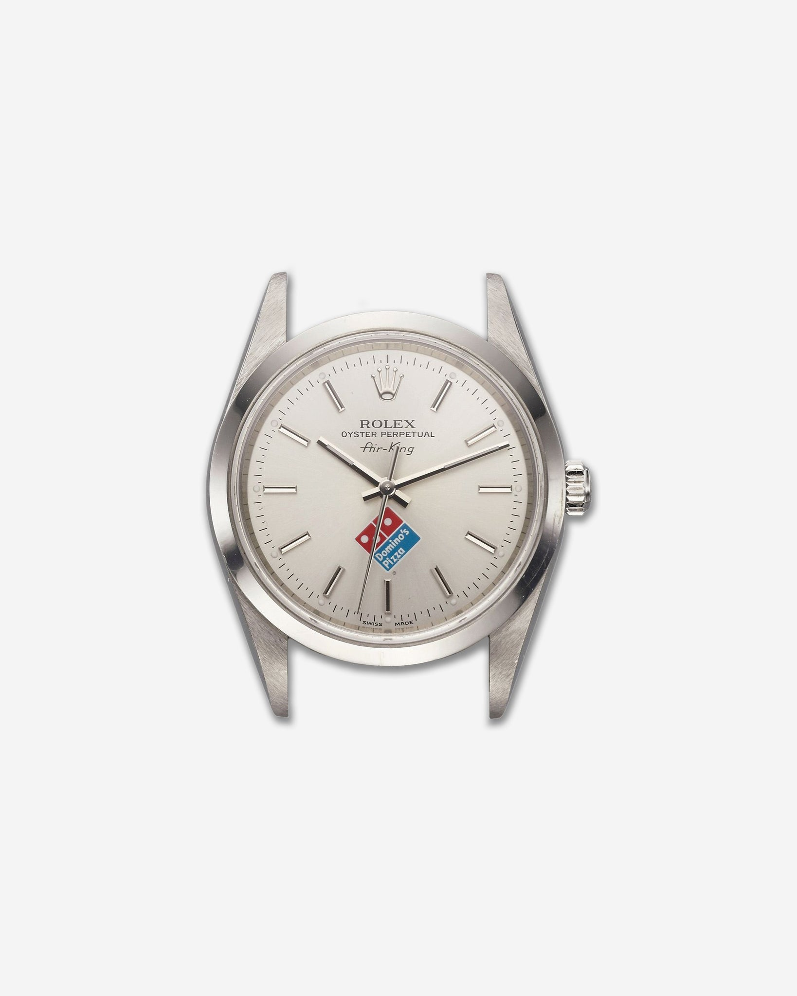 Rolex Air-King signed with Domino's logo that sold at Antiquorum for USD 3,750
