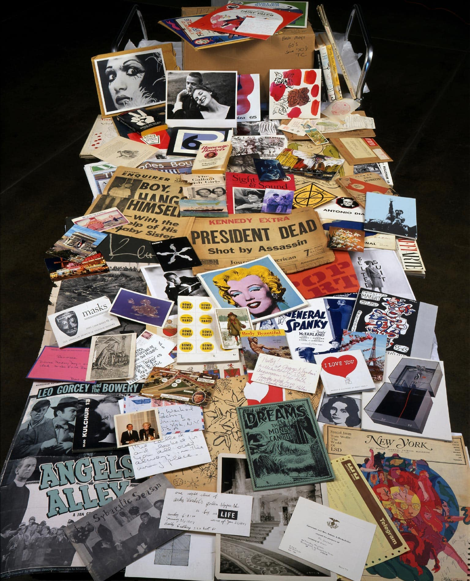 Contents on time capsule #21 in Understanding Andy Warhol as a collector for A Collected Man