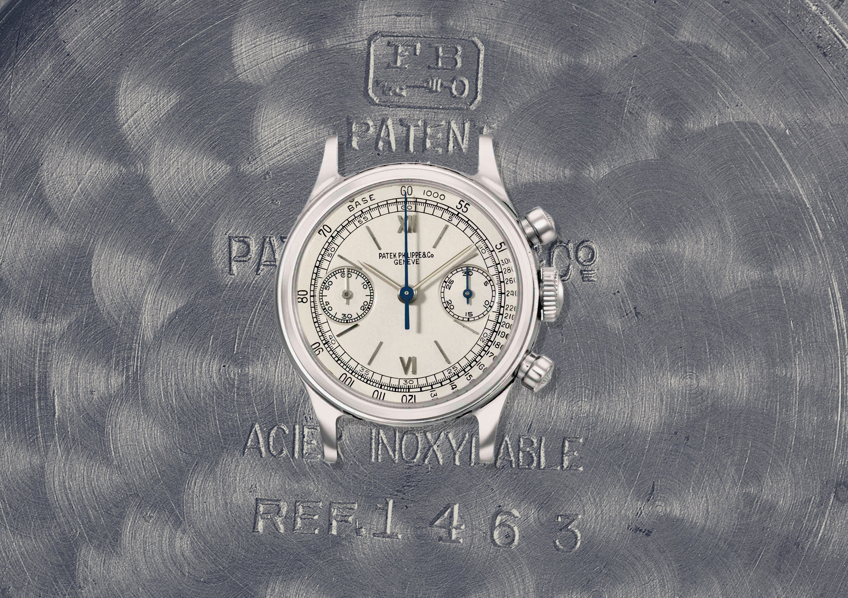 Patek Philippe 1465 chronograph in steel with Borgel waterproof case for A Collected Man London
