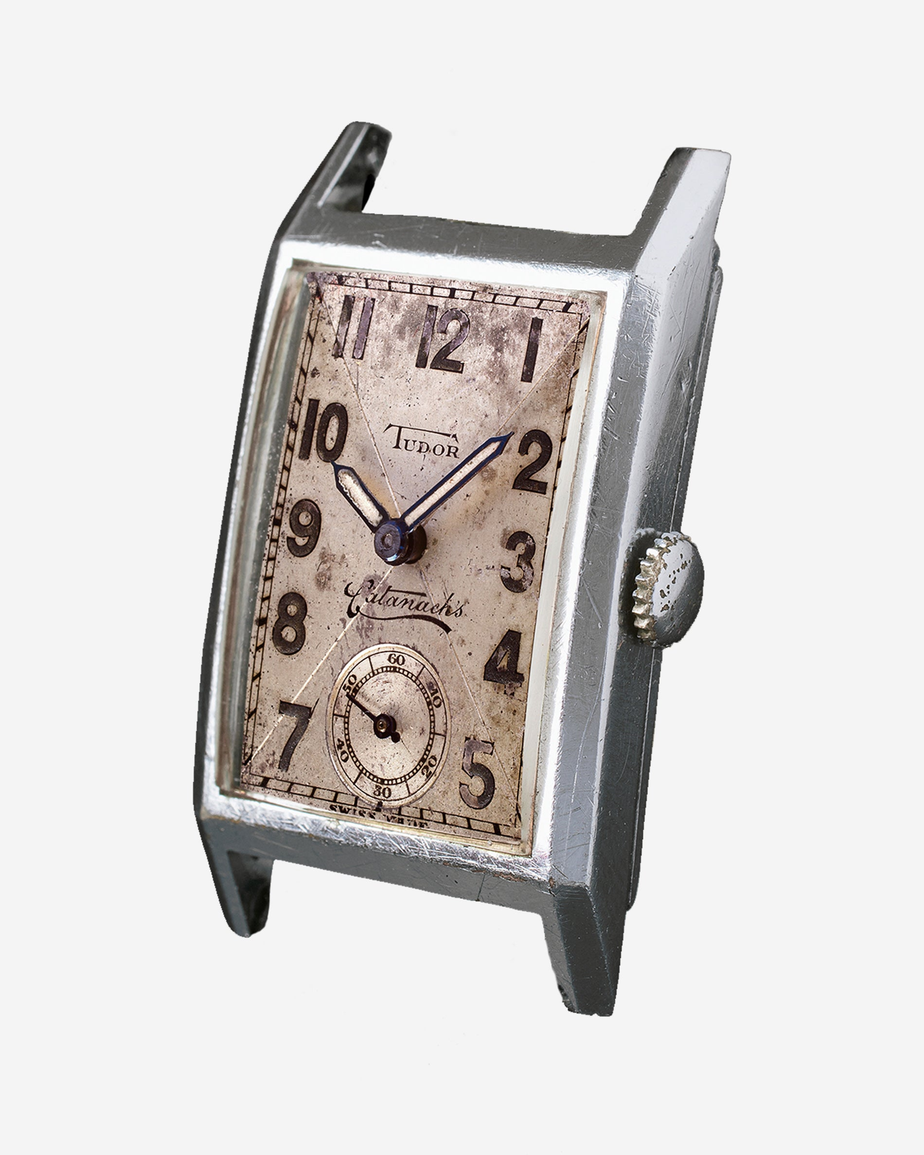 Tudor Catanachs rectangular wristwatch from 1932 fro A Collected Man London