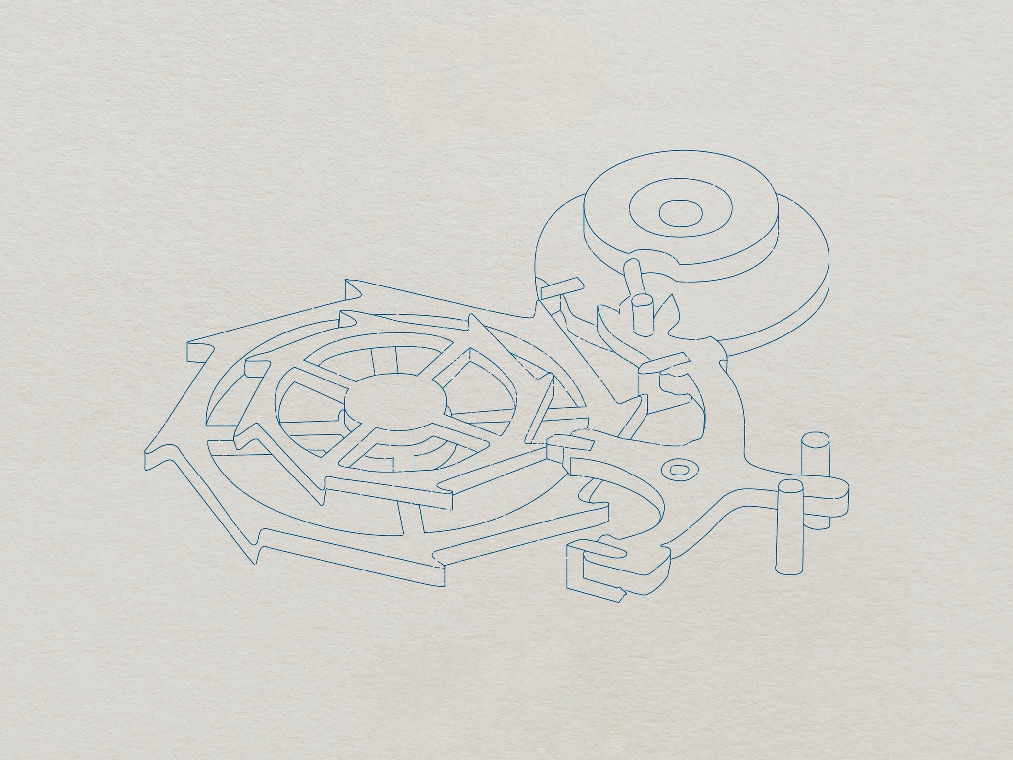 Sketch of George Daniels co-axial escapement