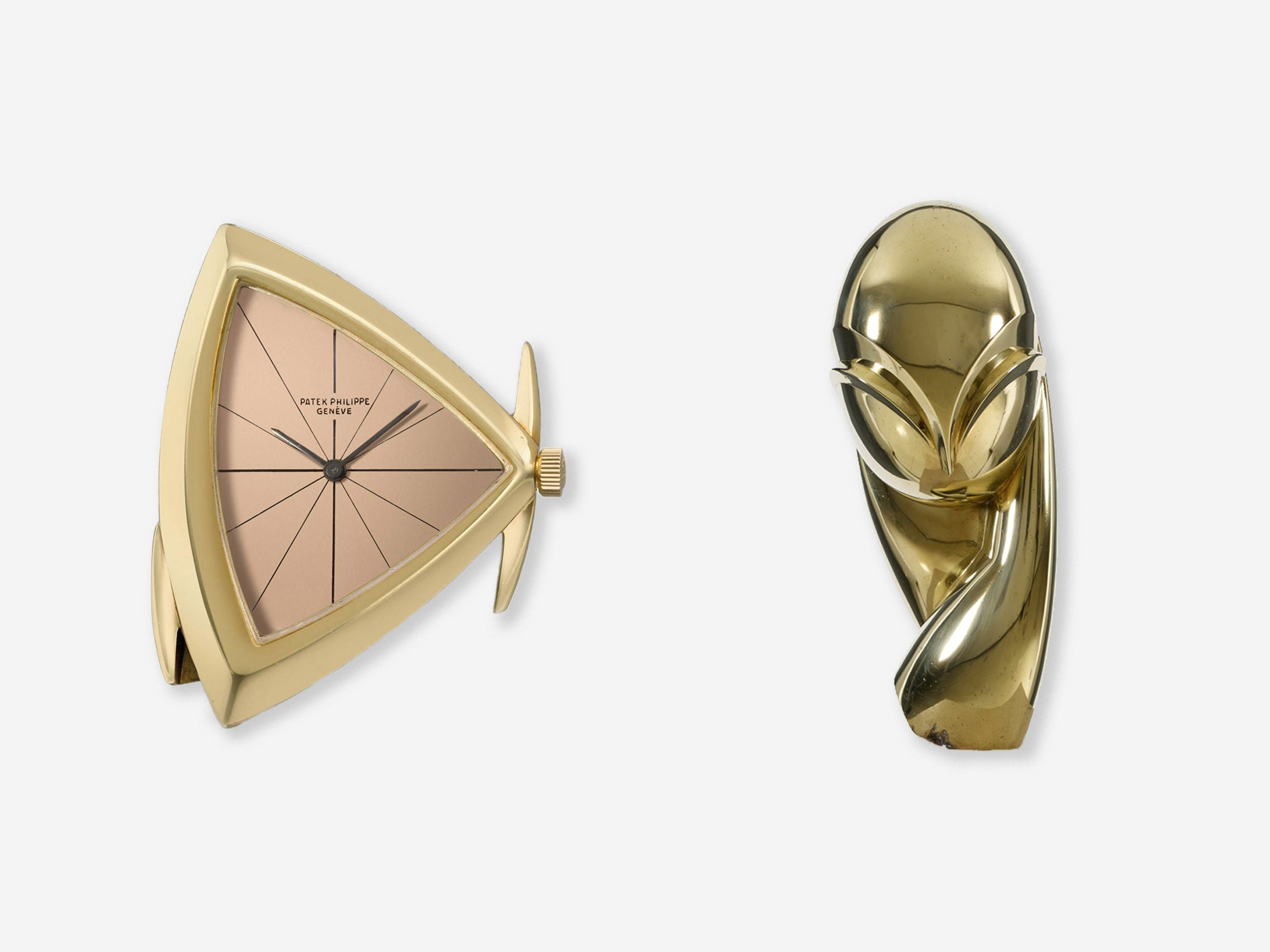 Patek Philippe 3412 and Constantin Brancusi's Madamoiselle Pognay II statue in The Role Played by 'Collaborations' in Watchmaking for A Collected Man London