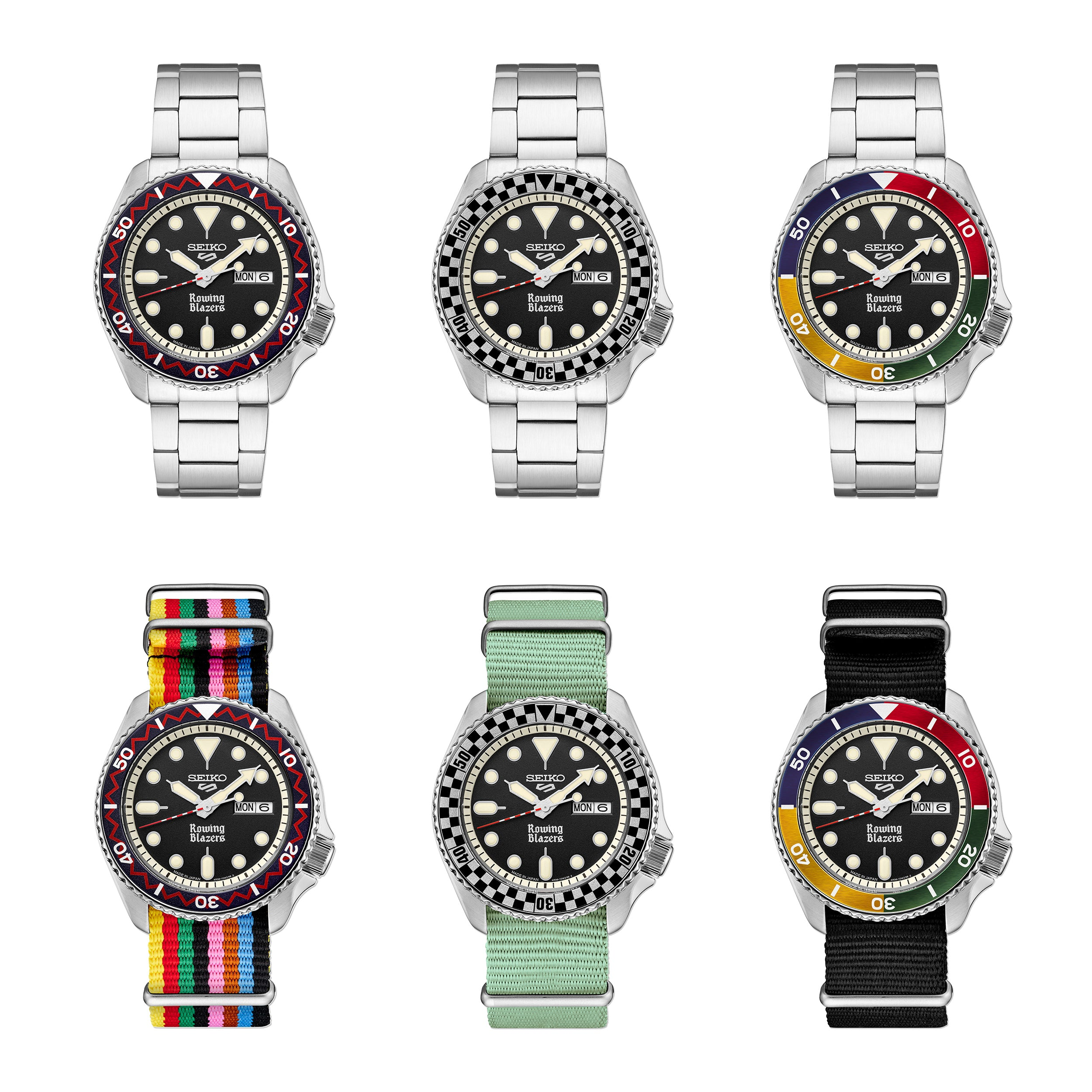 Six Seiko x Rowing Blazers limited edition watches in The Role Played by 'Collaborations' in Watchmaking for A Collected Man London