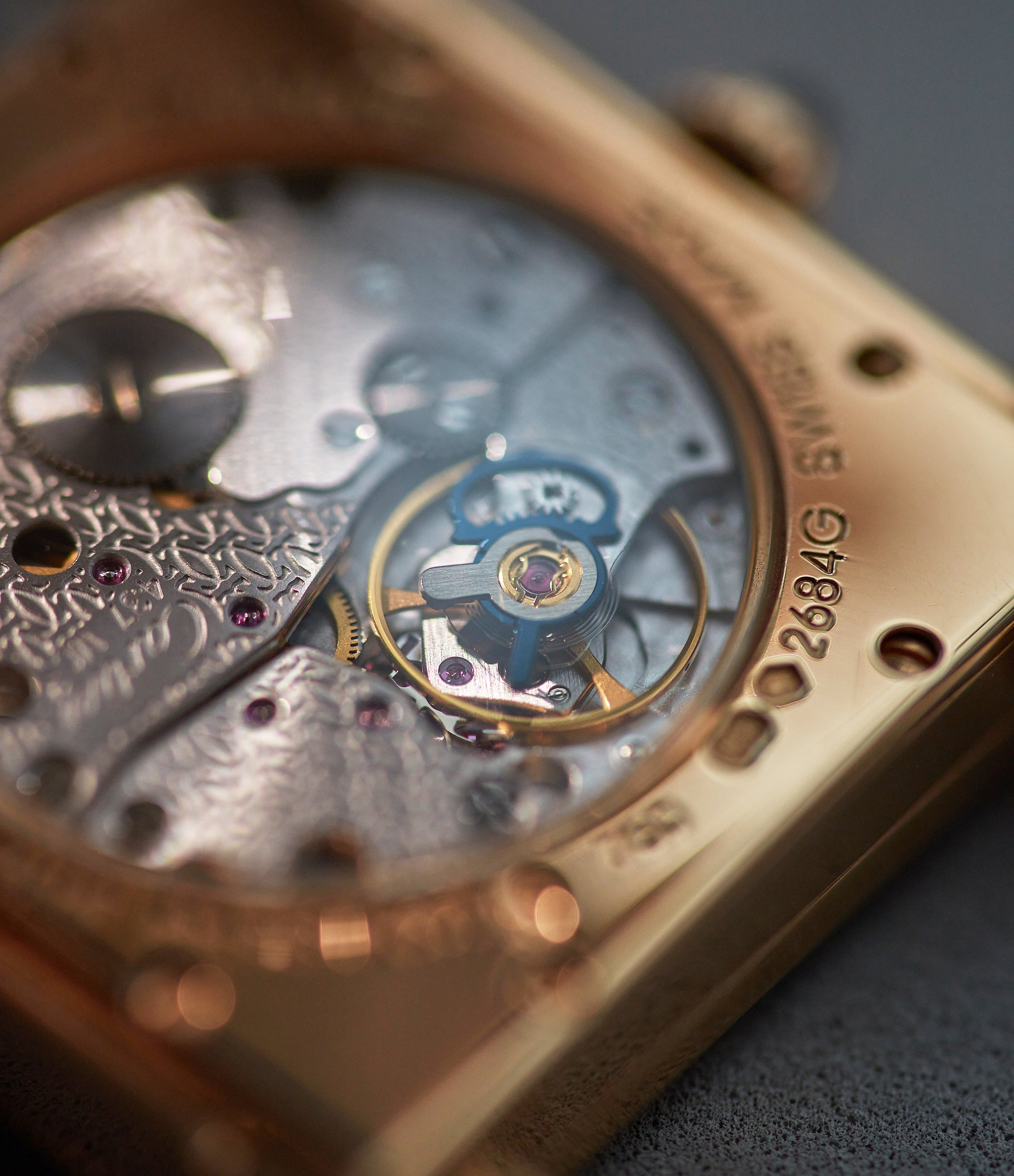"""Cartier CPCP Tank Chinoise Rose Gold watch movement In A Collector's Guide to the """"Collection Privée Cartier Paris"""" for A Collected Man London"""