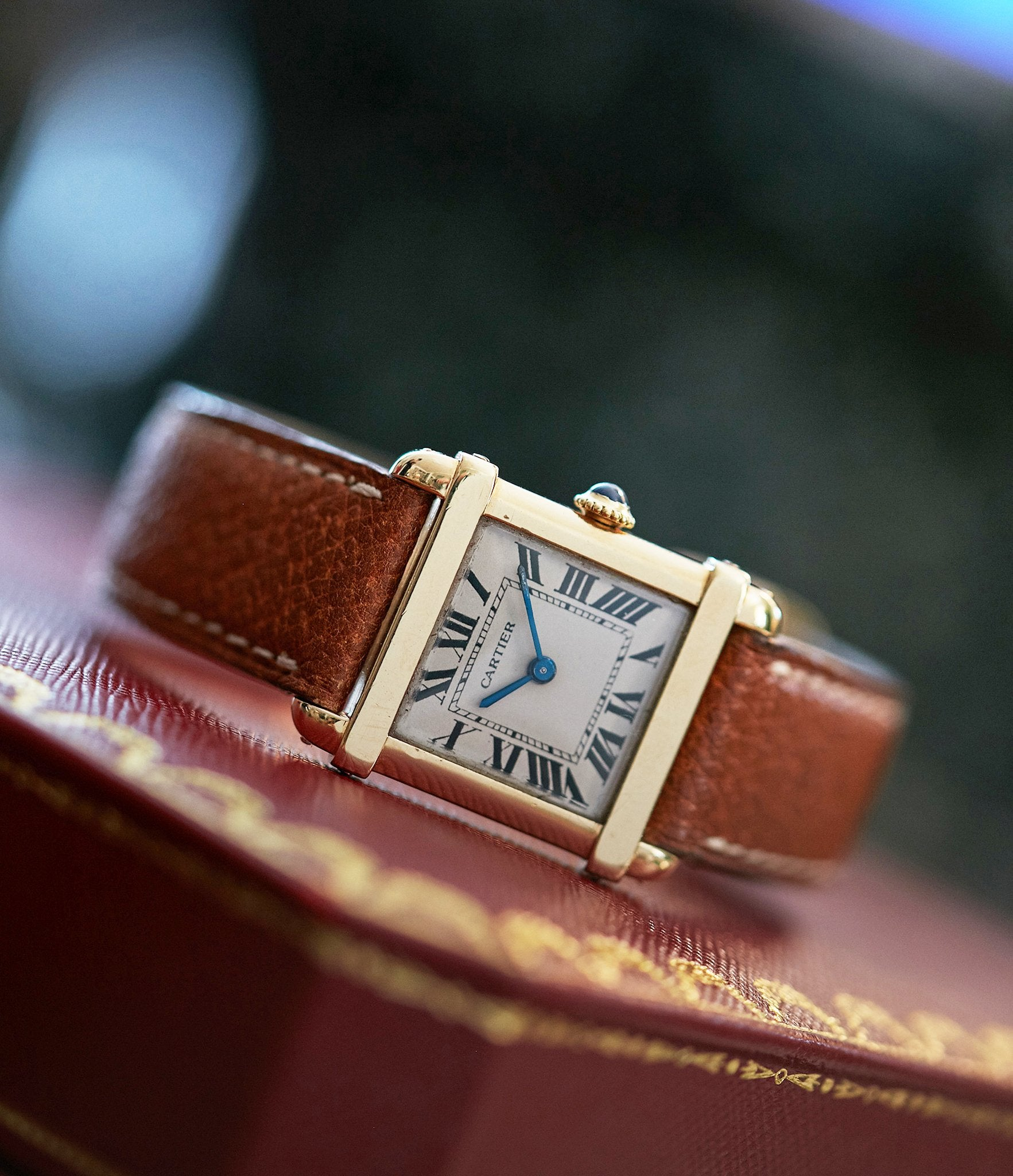 """Cartier watch on box In A Collector's Guide to the """"Collection Privée Cartier Paris"""" for A Collected Man London"""