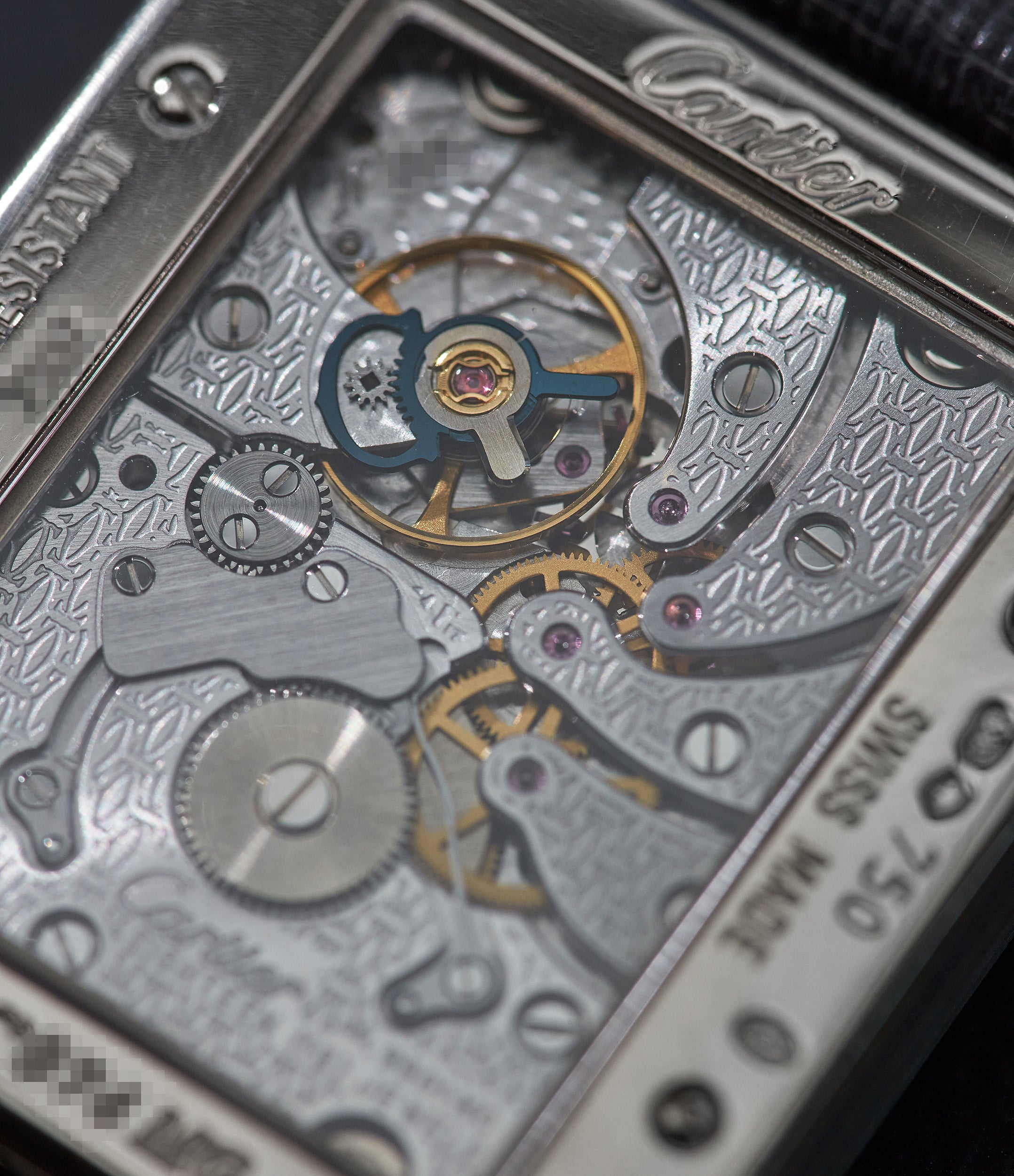 """Cartier square watch movement In A Collector's Guide to the """"Collection Privée Cartier Paris"""" for A Collected Man London"""