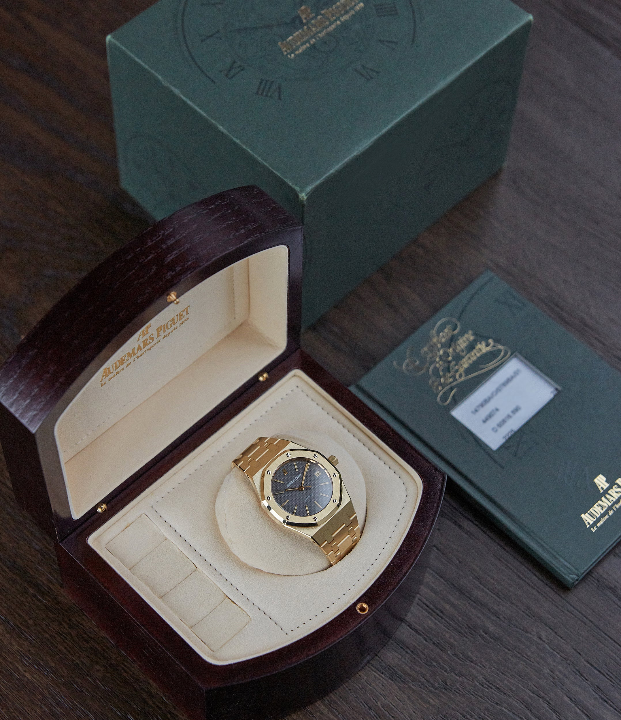 Audemars Piguet Royal Oak 14790 in the modern box with its paperwork for A Collected Man London