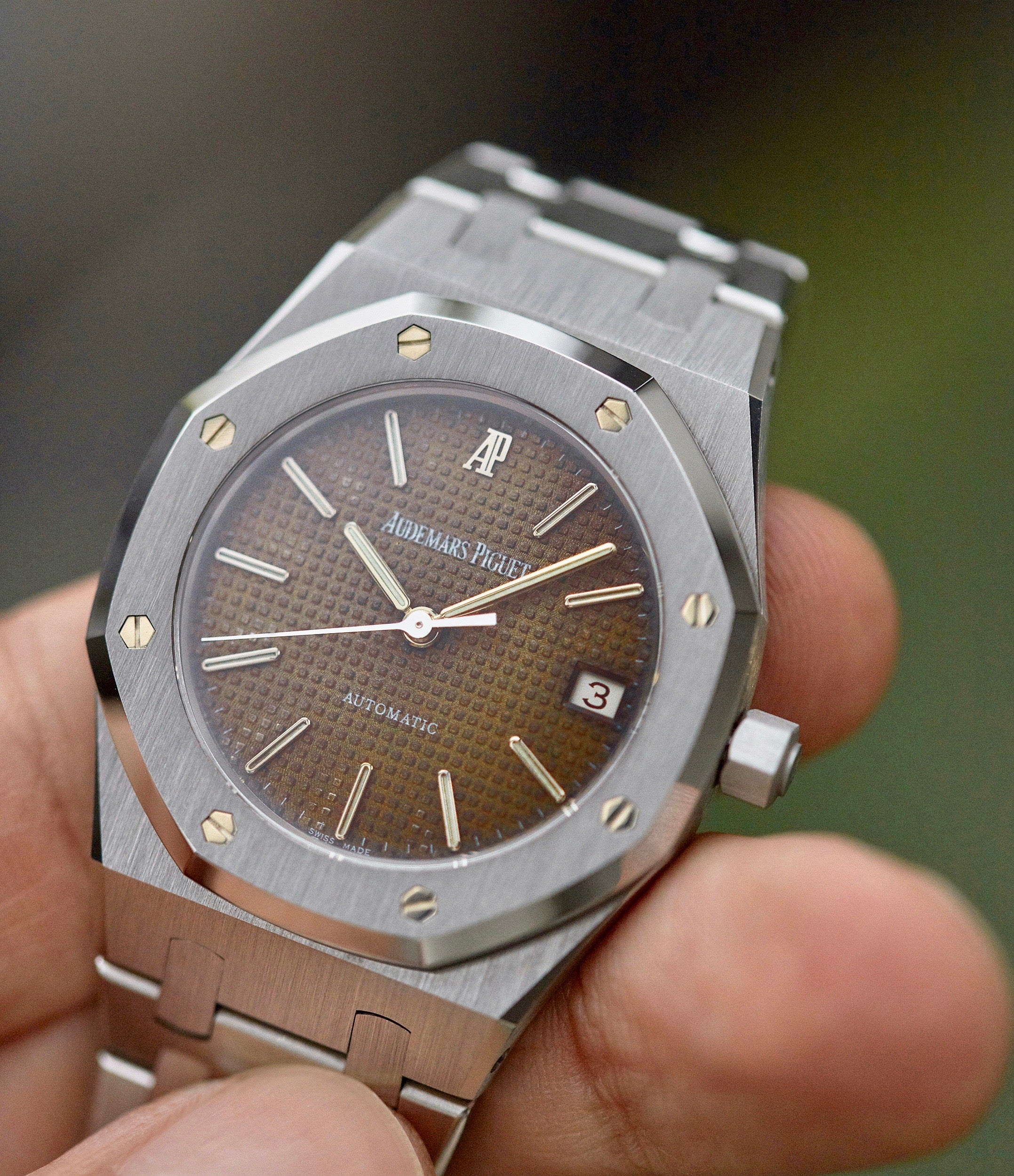 Audemars Piguet Royal Oak 14790 mid-sized second series in stainless steel with a rare tropical dial for A Collected Man London