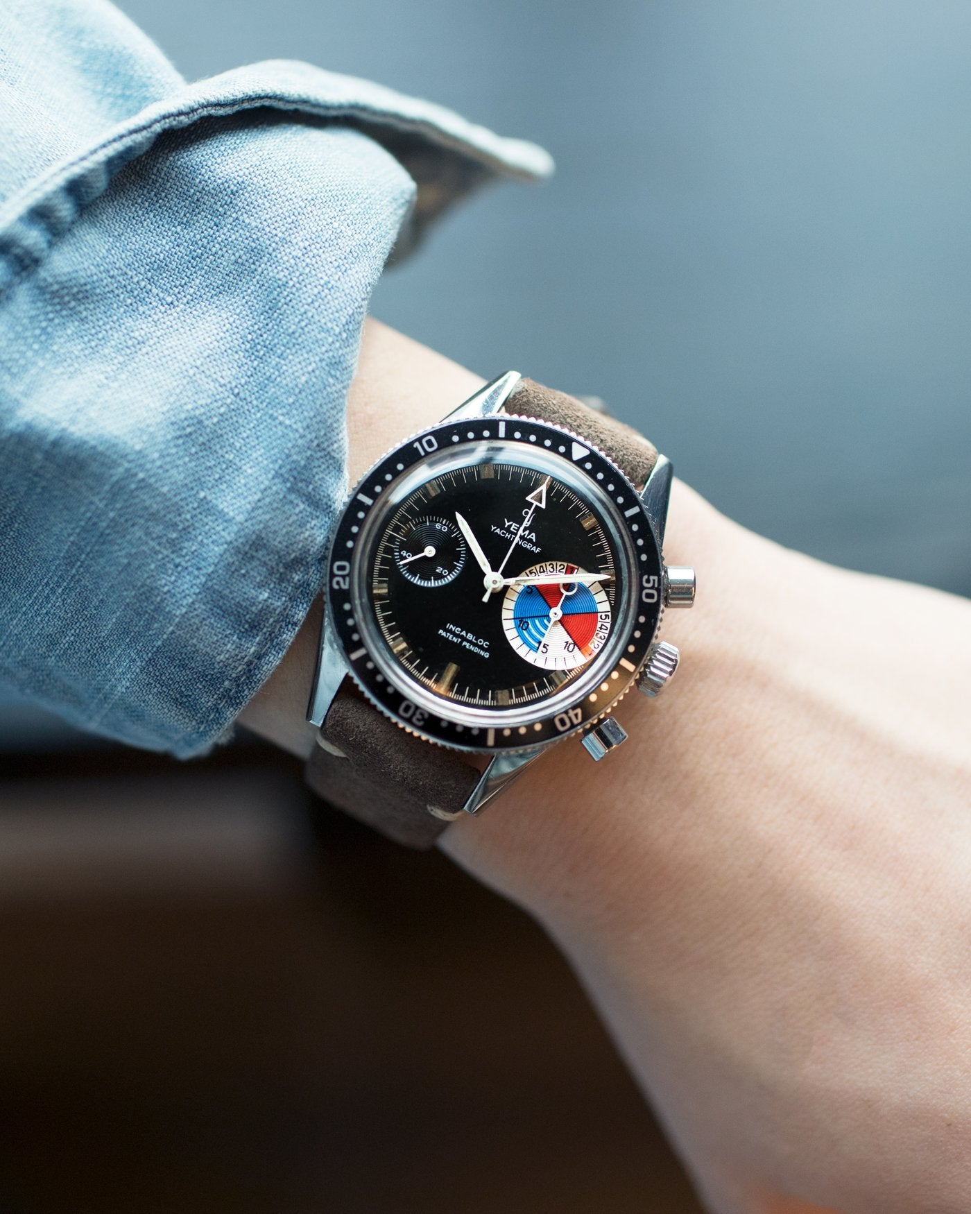 Yema Yachtingraf Regat lifestyle wristshot in The Complications Lost to Time for A Collected Man London