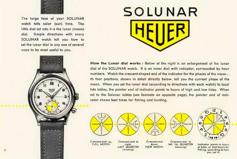Heuer Solunar Watch in The Complications Lost to Time for A Collected Man London