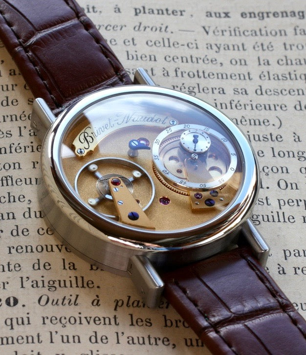 Cyril Brivet-Naudot young French watchmaker first handmade watch  interview with A Collected Man London