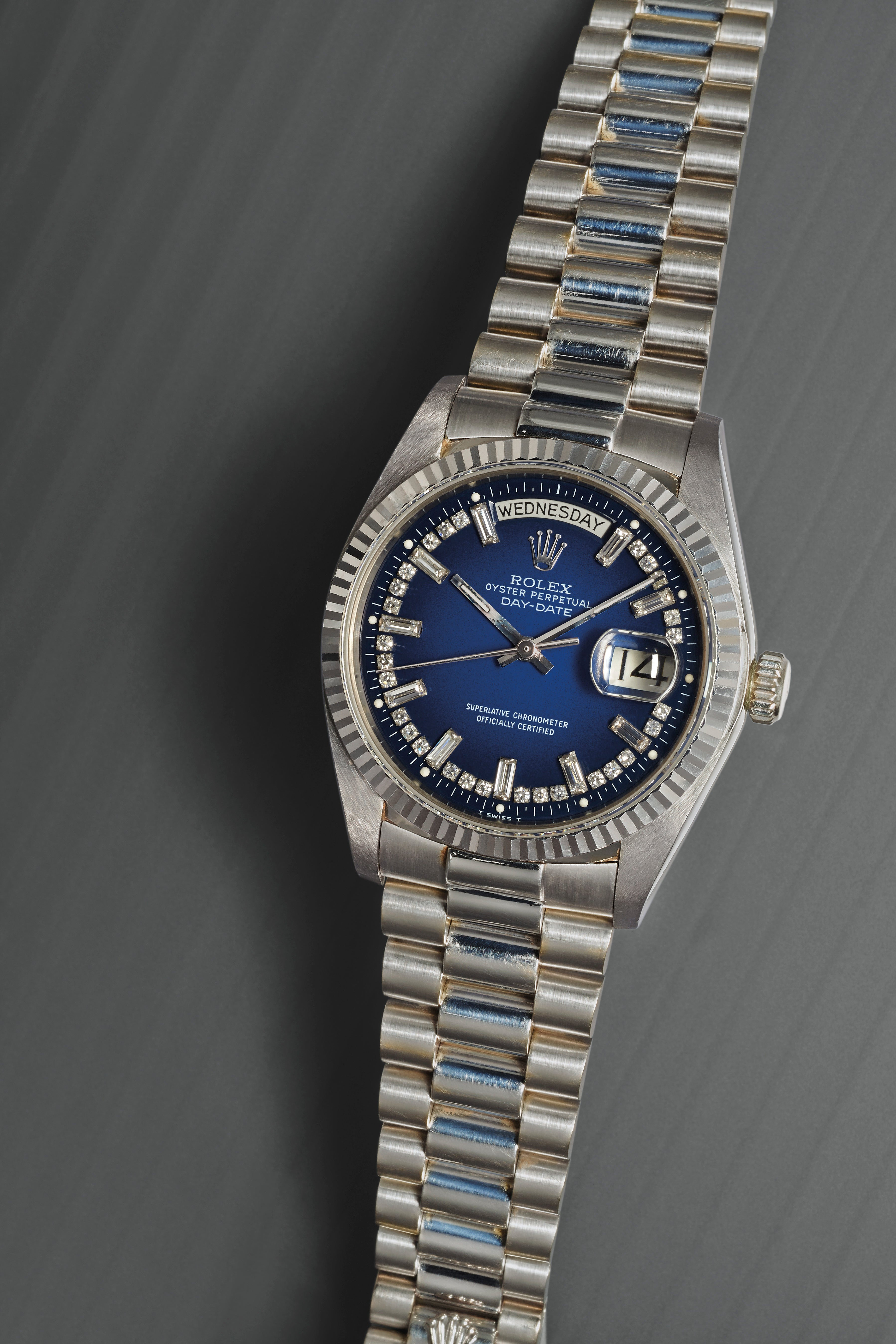 Rolex Stella Degrede blue dial with diamond markers and dial for A Collected Man London