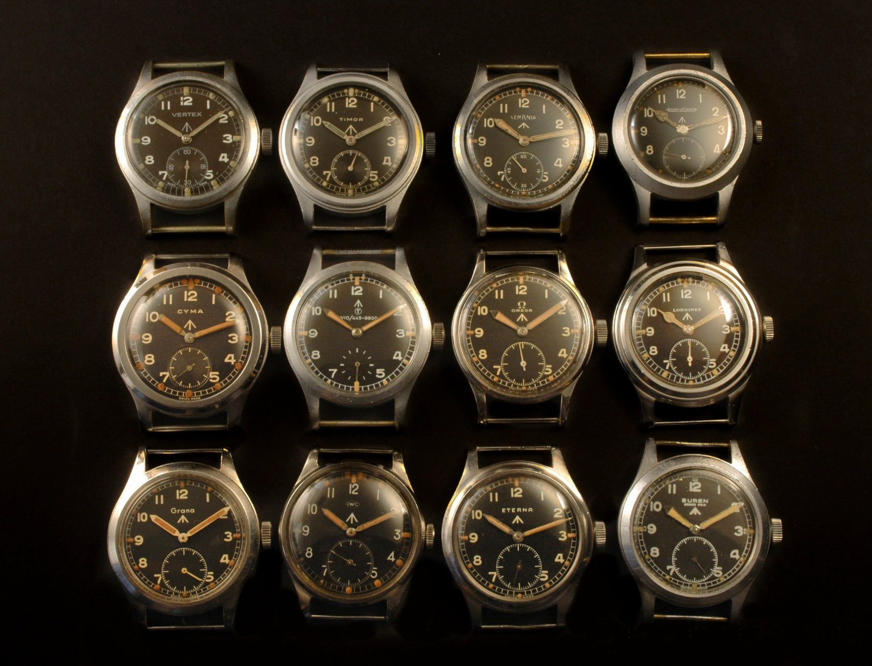 W.W.W. British Dirty Dozen military watches at A Collected Man London vintage military watch specialist
