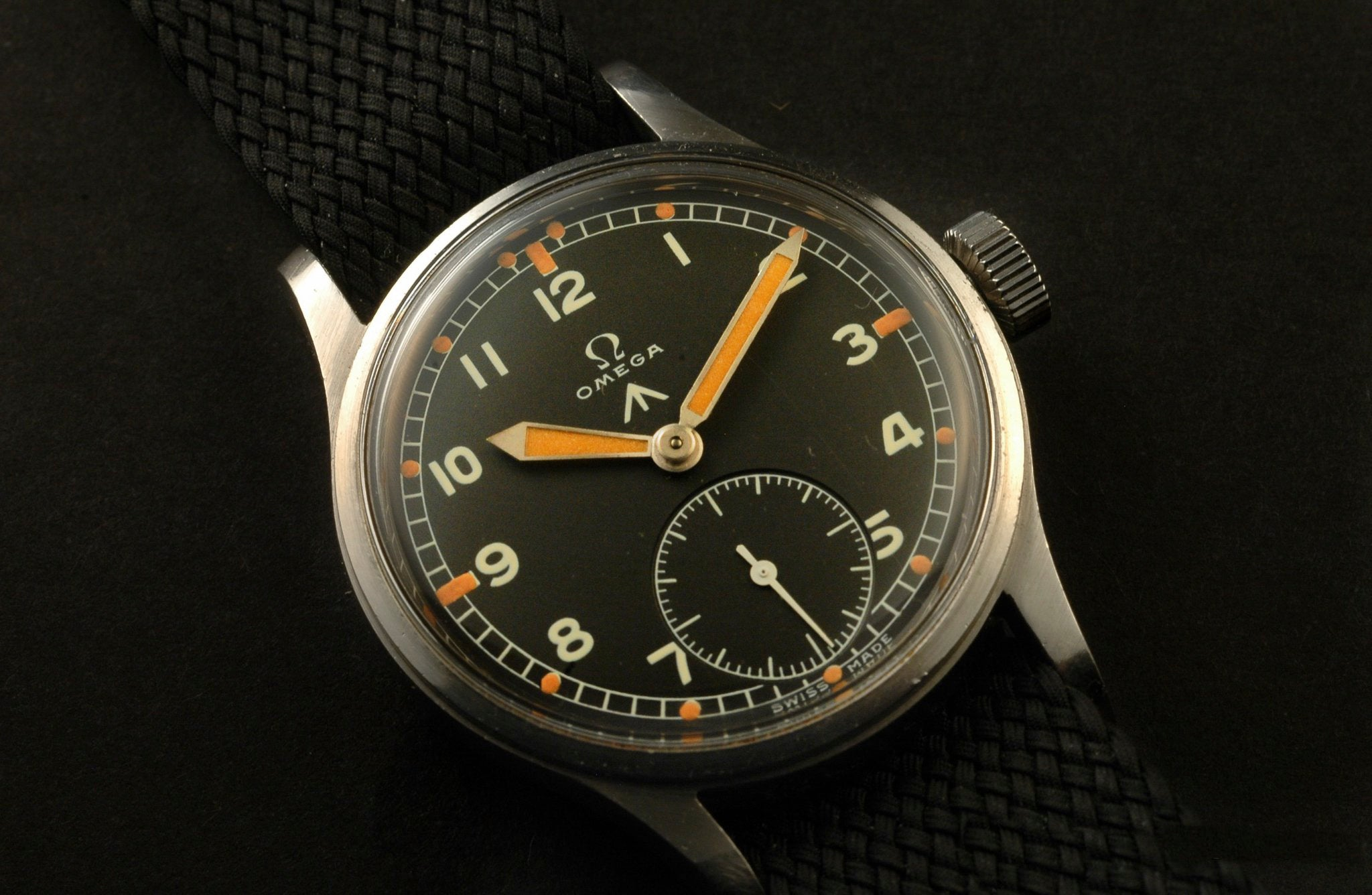 Omega W.W.W. British Dirty Dozen military watches at A Collected Man London vintage military watch specialist