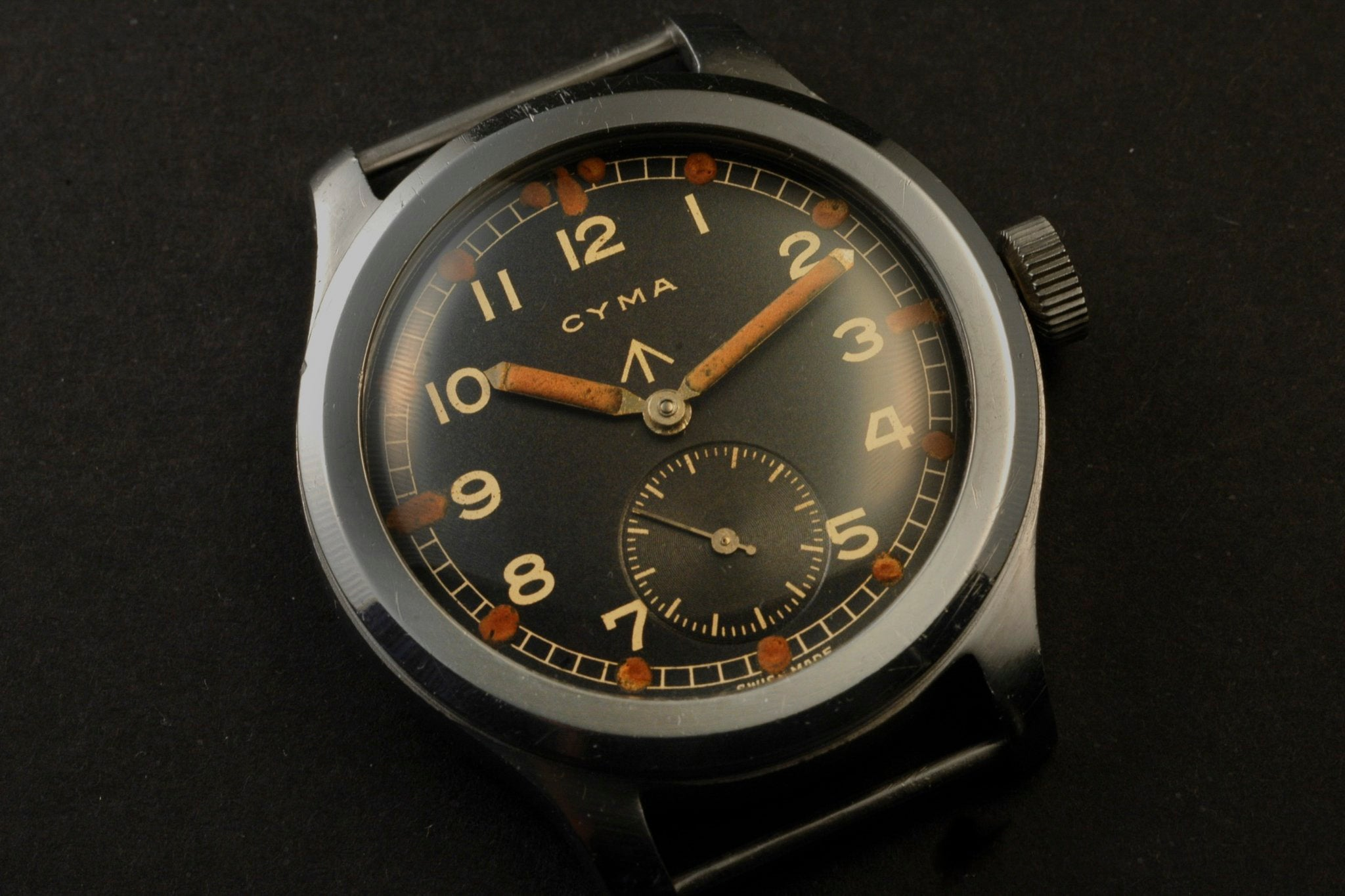 W.W.W. British Dirty Dozen Cyma military watch at A Collected Man London vintage military watch specialist