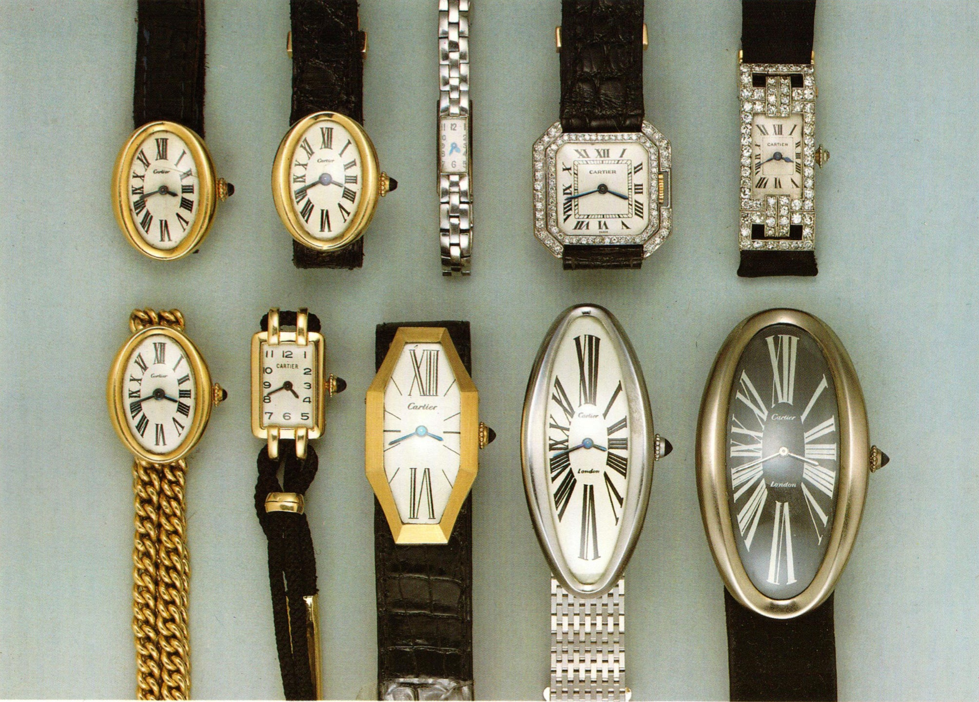 Auction catalogue of Cartier watches in The Early Days of Vintage Wristwatch Collecting for A Collected Man London