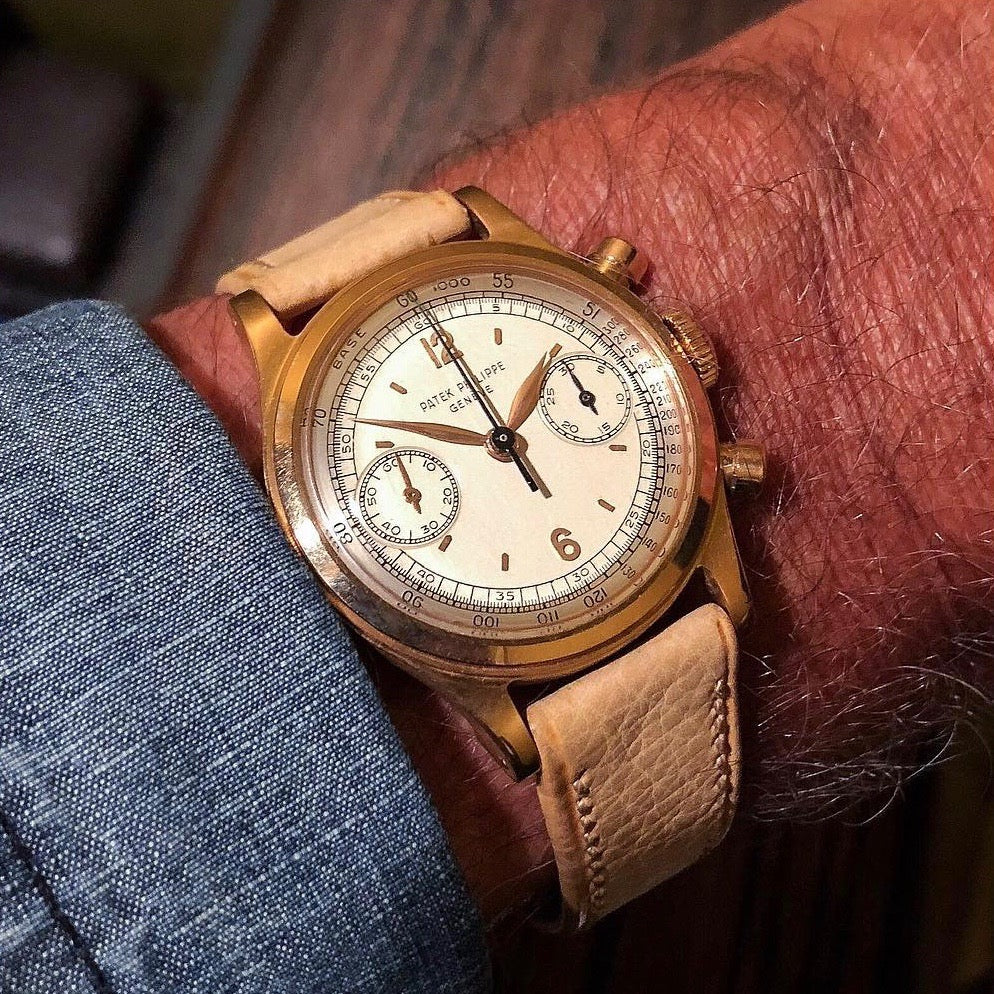 Wrist shot from John Goldberger in The Early Days of Vintage Wristwatch Collecting for A Collected Man London