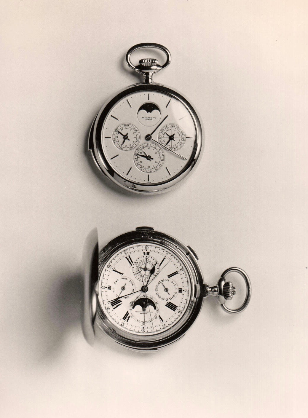 Auction catalogue showing 2 pocket watches in The Early Days of Vintage Wristwatch Collecting for A Collected Man London