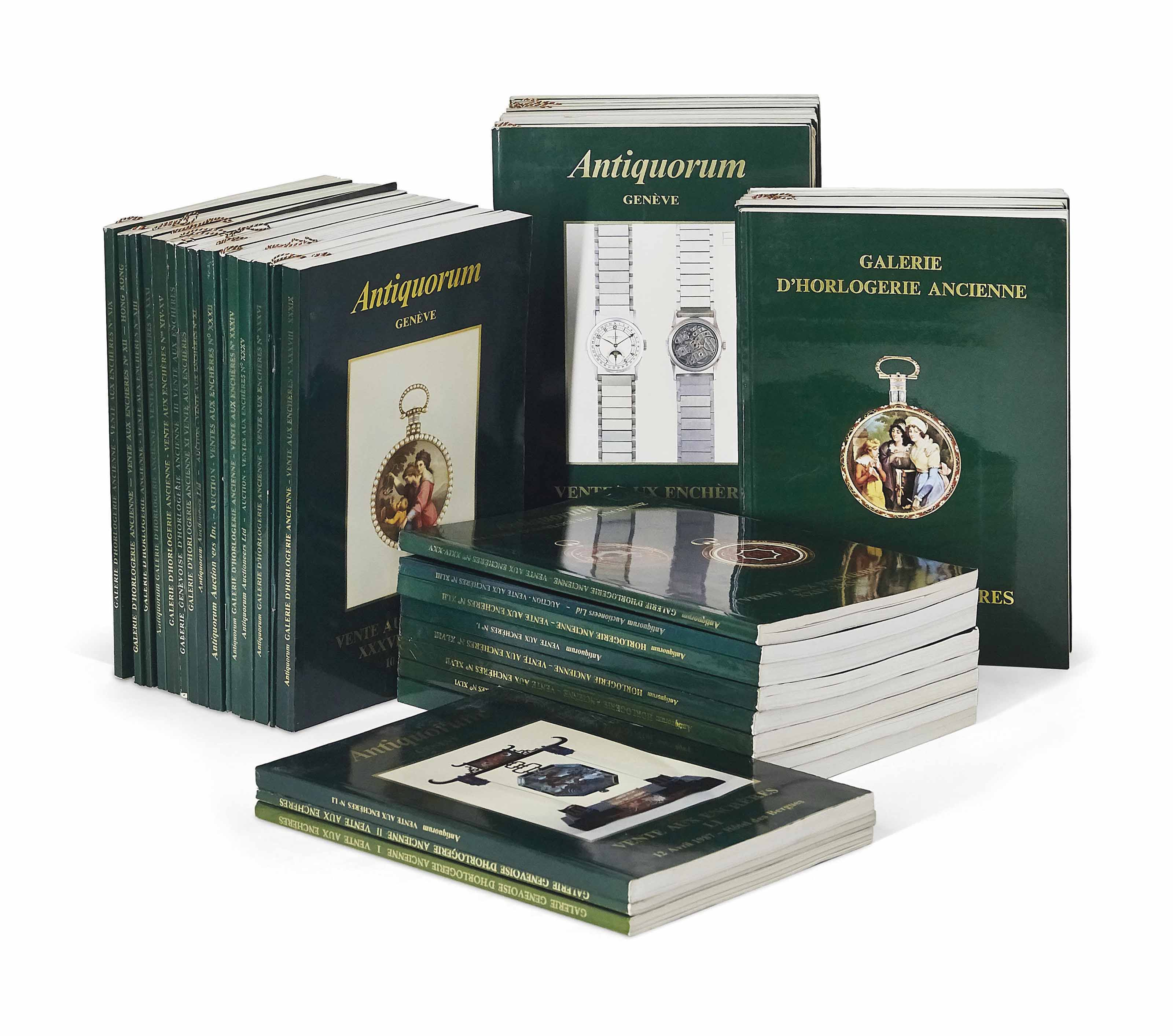 Early Antiquorum and Galerie d'Horlogerie Ancienne catalogues in The Early Days of Vintage Wristwatch Collecting for A Collected Man London