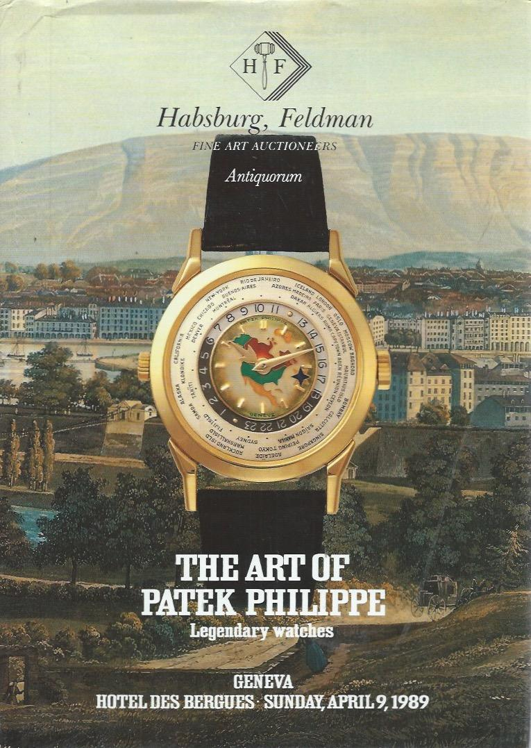 Art of Patek Philippe sale catalogue cover in The Early Days of Vintage Wristwatch Collecting for A Collected Man London