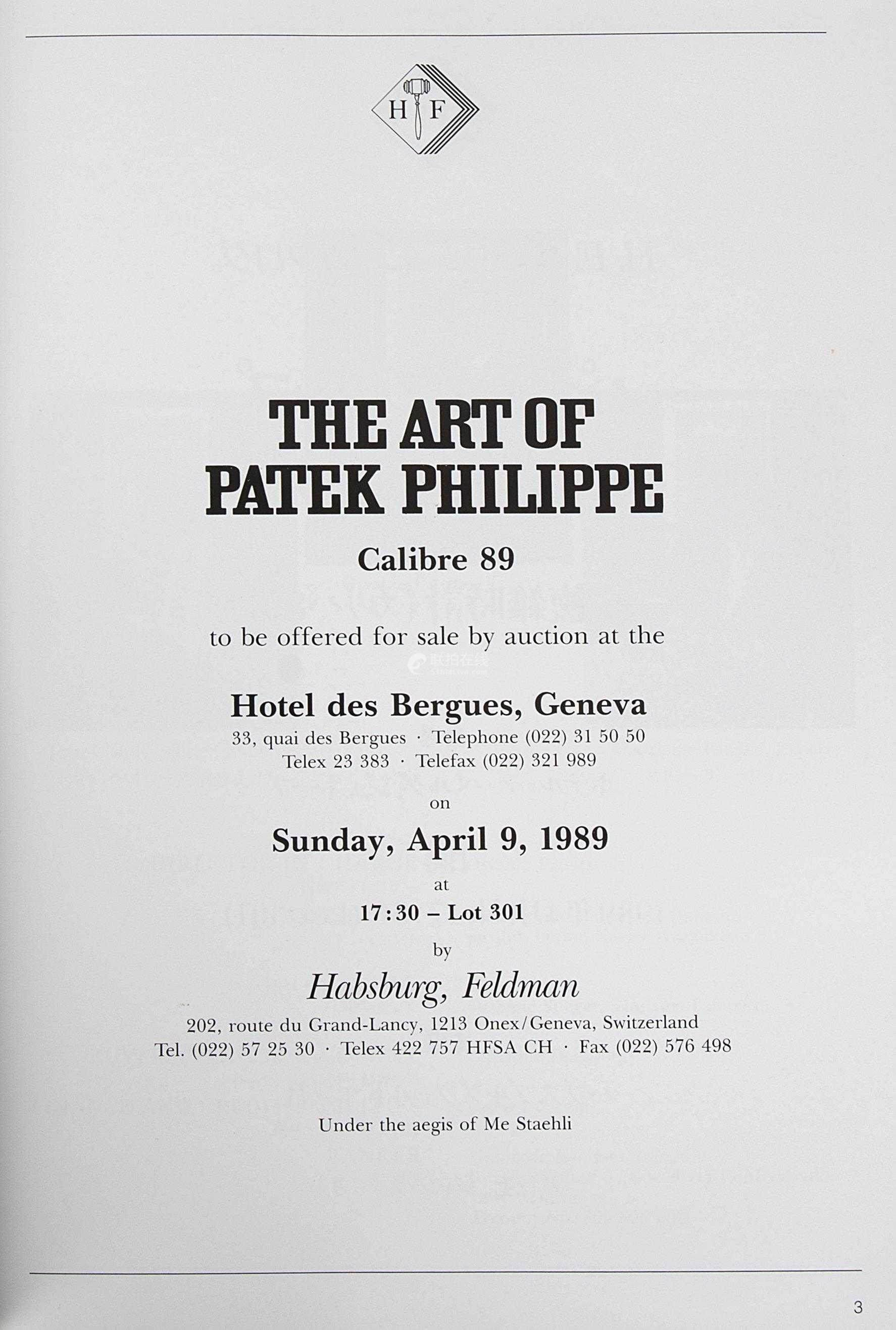 Art of Patek Philippe sale catalogue inside in The Early Days of Vintage Wristwatch Collecting for A Collected Man London