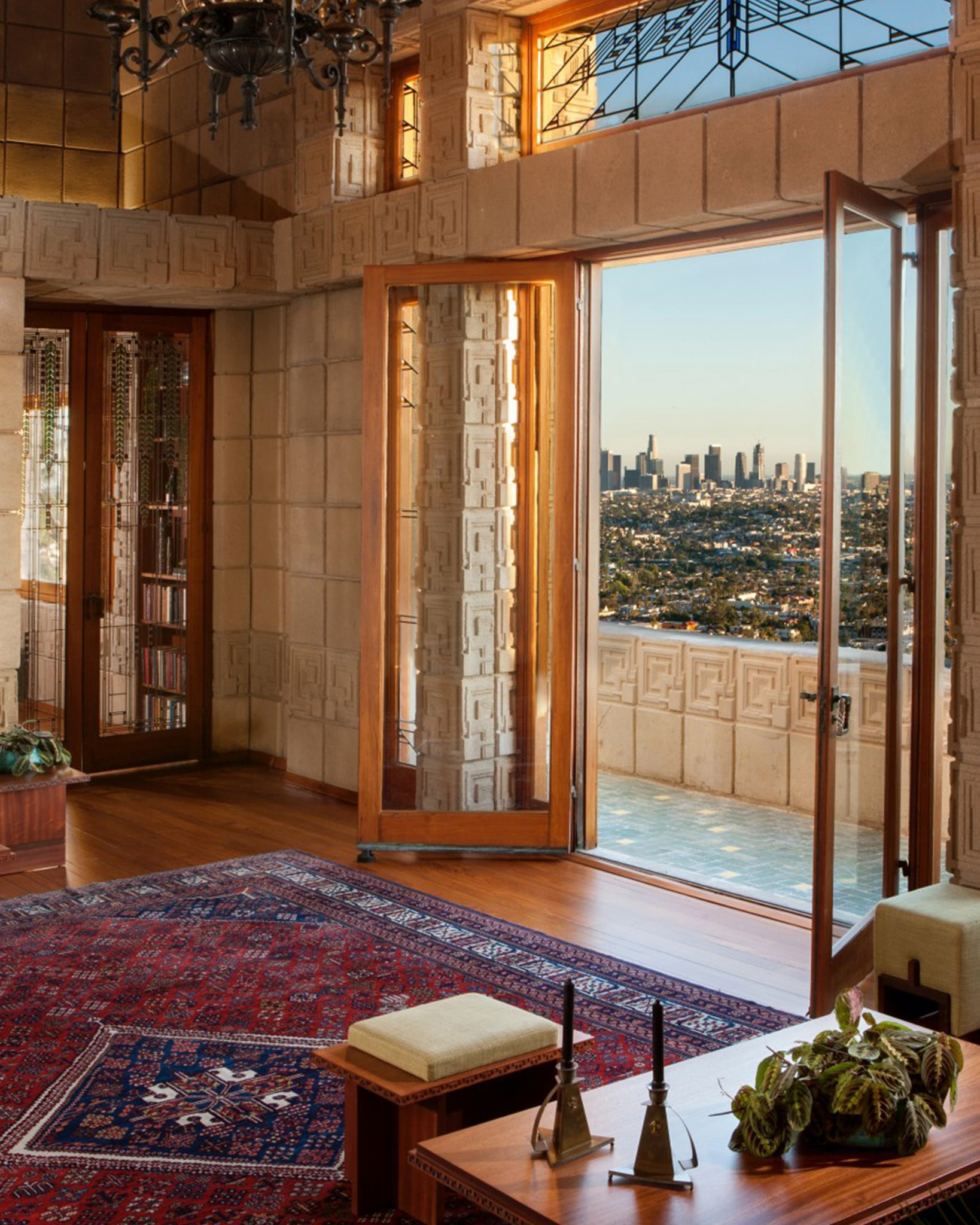 Ennis House designed by Frank Lloyd Wright