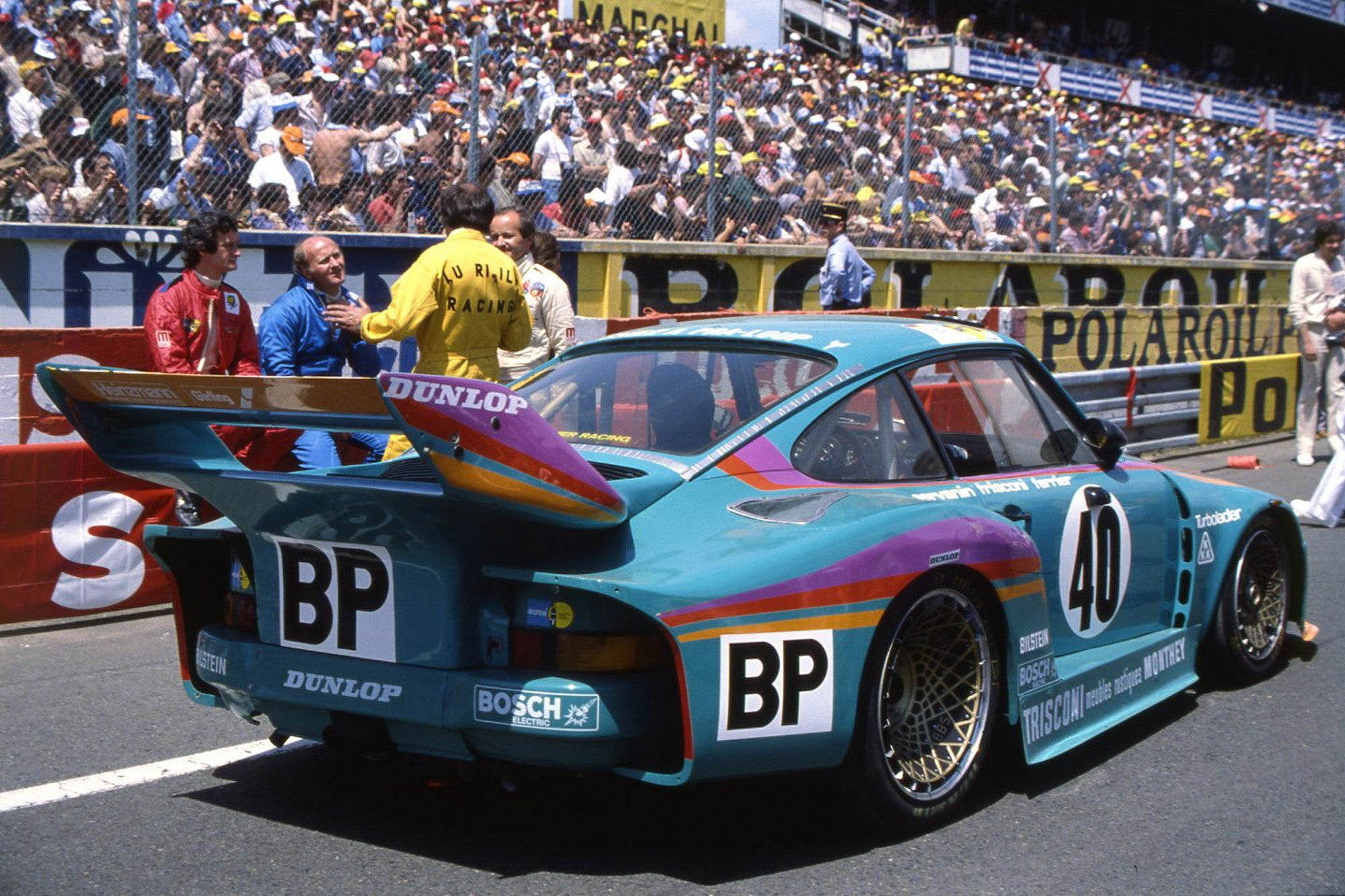 Laurent Ferrier racing Porsche 935 at Le Mans