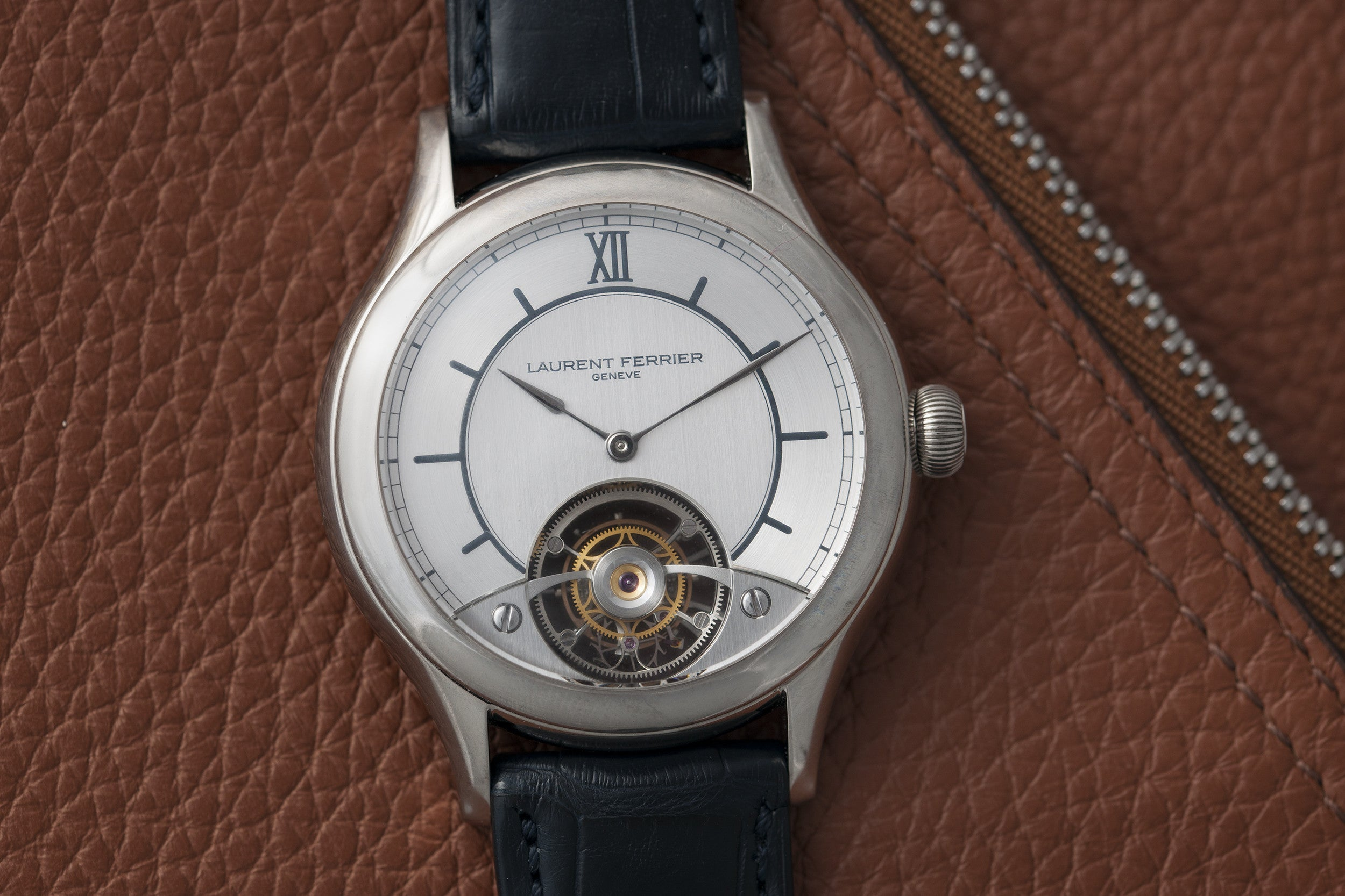 Laurent Ferrier Double Spiral Tourbillon with Sector dial at A Collected Man London