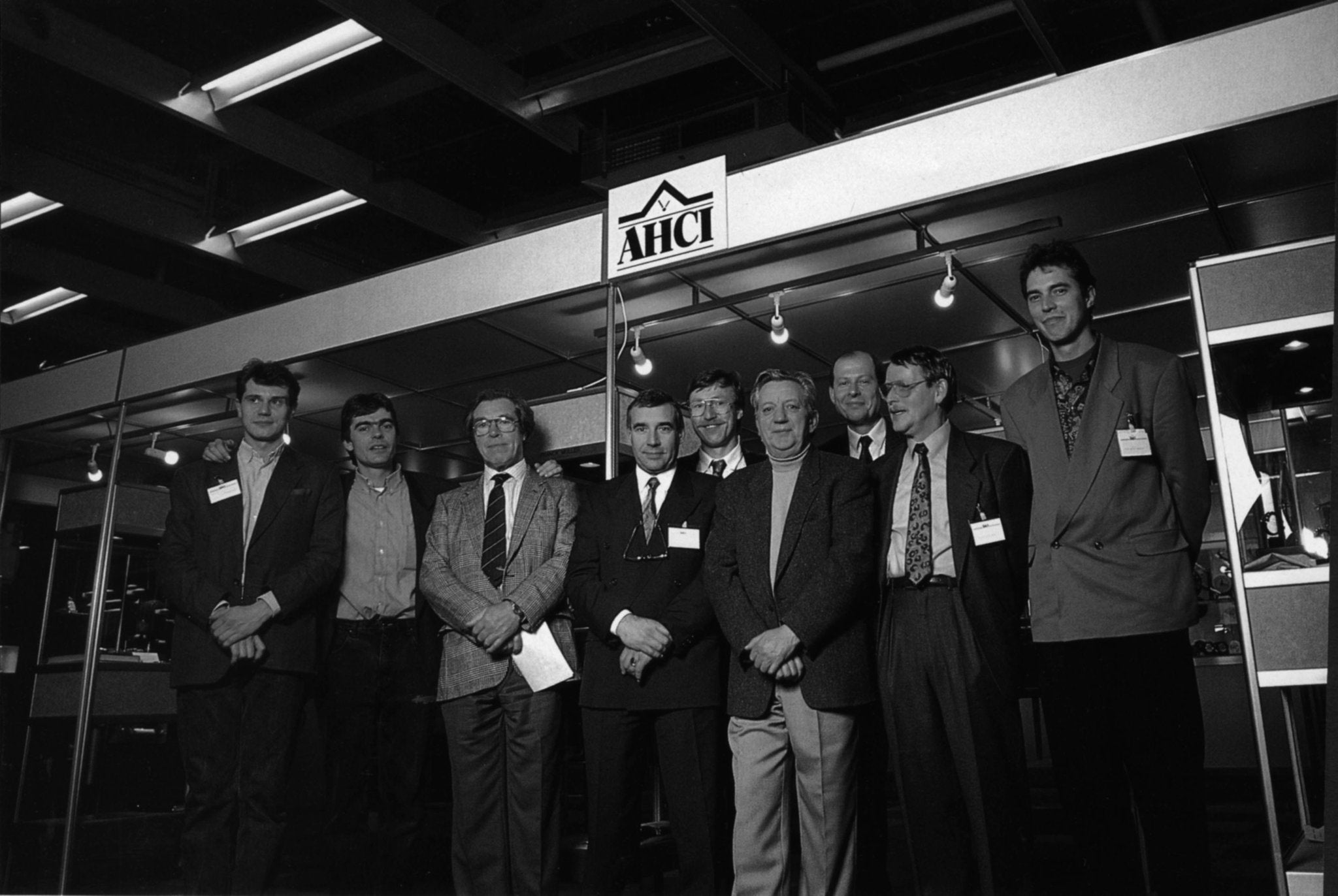 Members of the AHCI at Baselworld in 1986 with Sven Andersen, Franck Muller and George Daniels for A Collected Man London