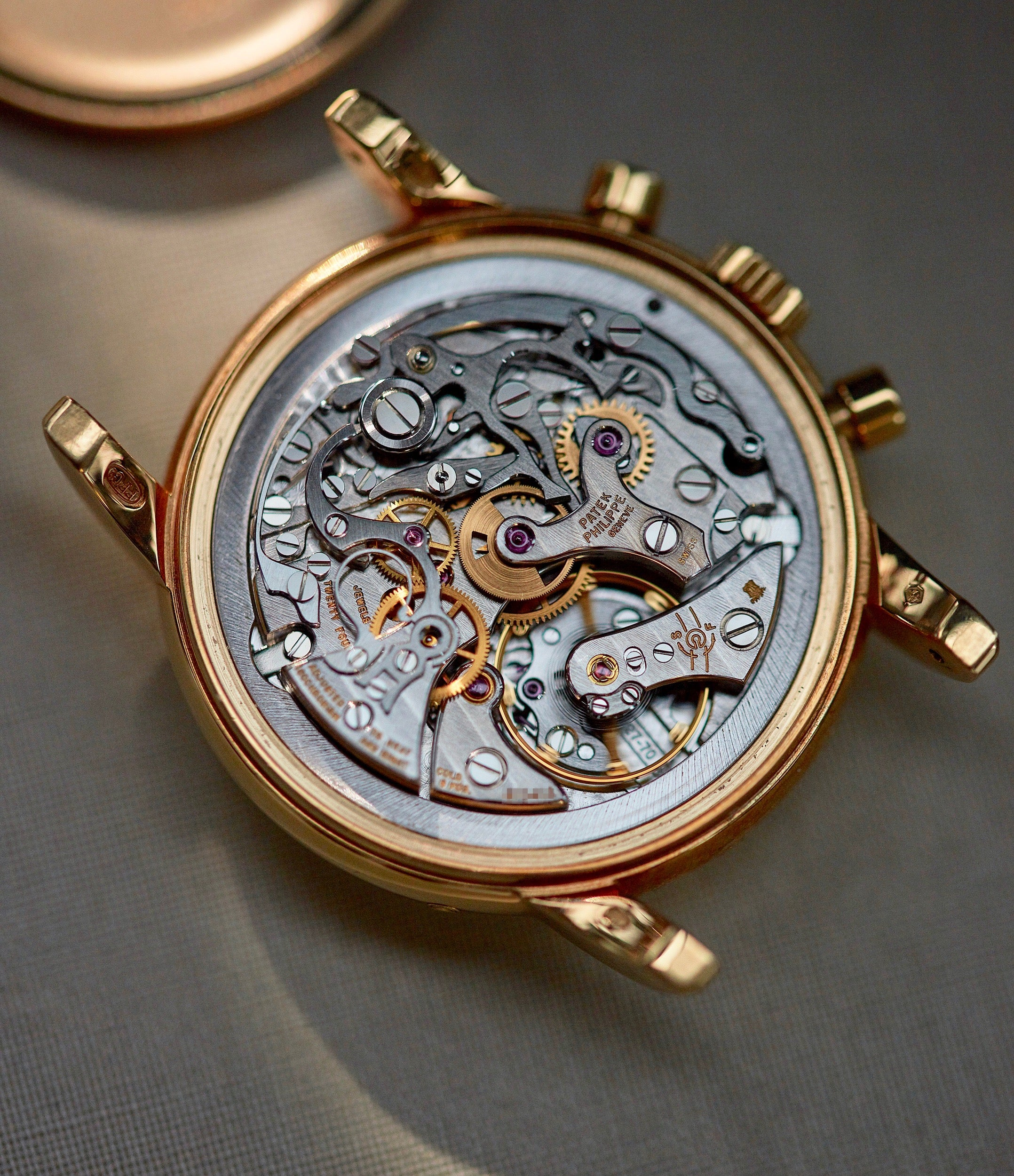 A Patek Philippe 3970 with its movement based on the Lemania 2310 ebauche for A Collected Man London