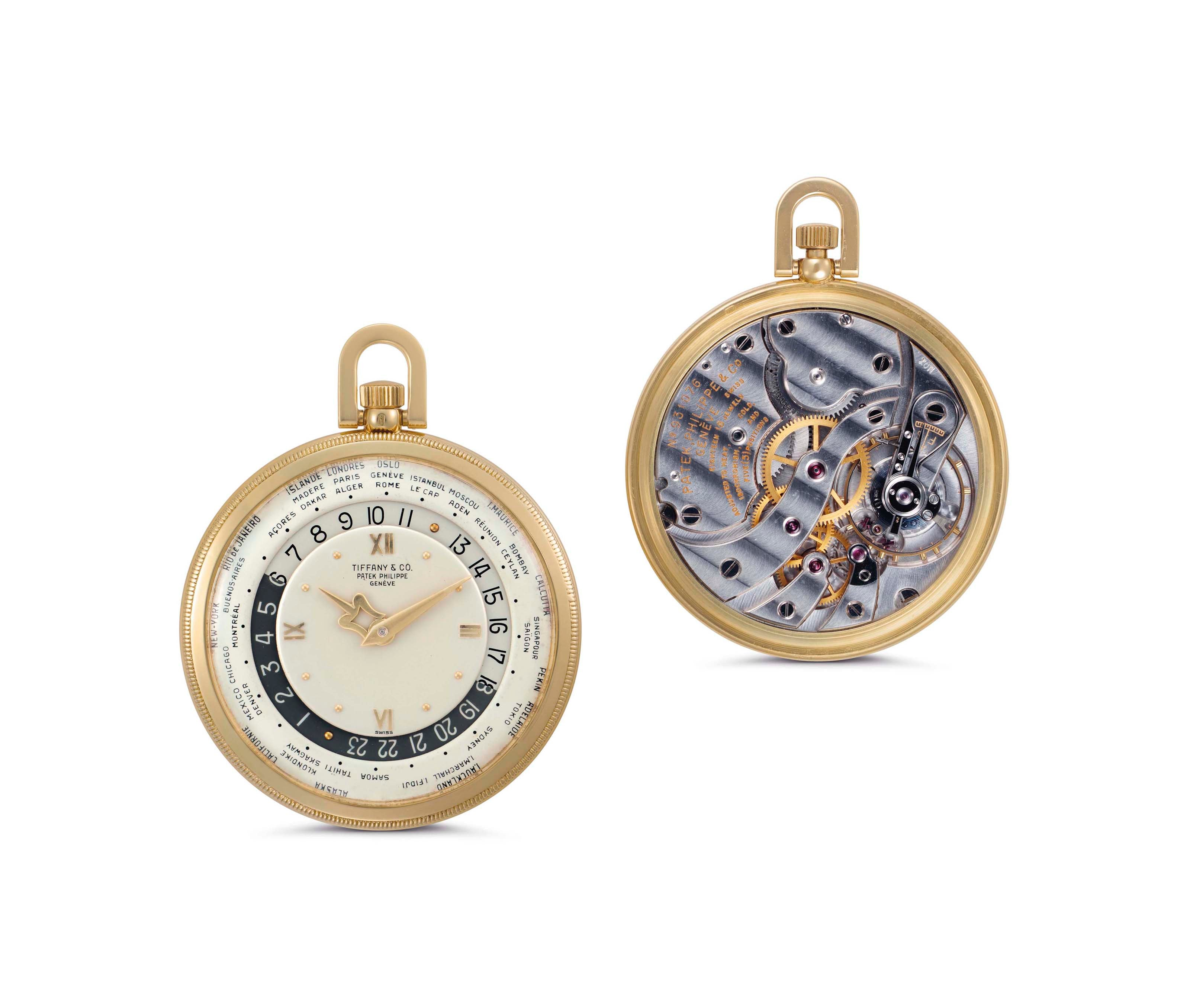 Patek Philippe Front and back of pocket watch In Four Patents that Changed the Face of Watchmaking for A Collected Man London