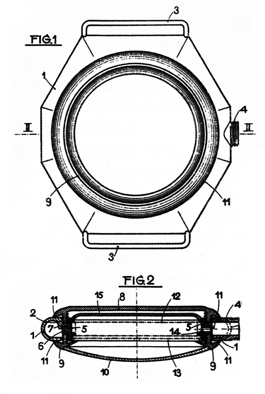 Rolex technical drawing and exploded watch case In Four Patents that Changed the Face of Watchmaking for A Collected Man London