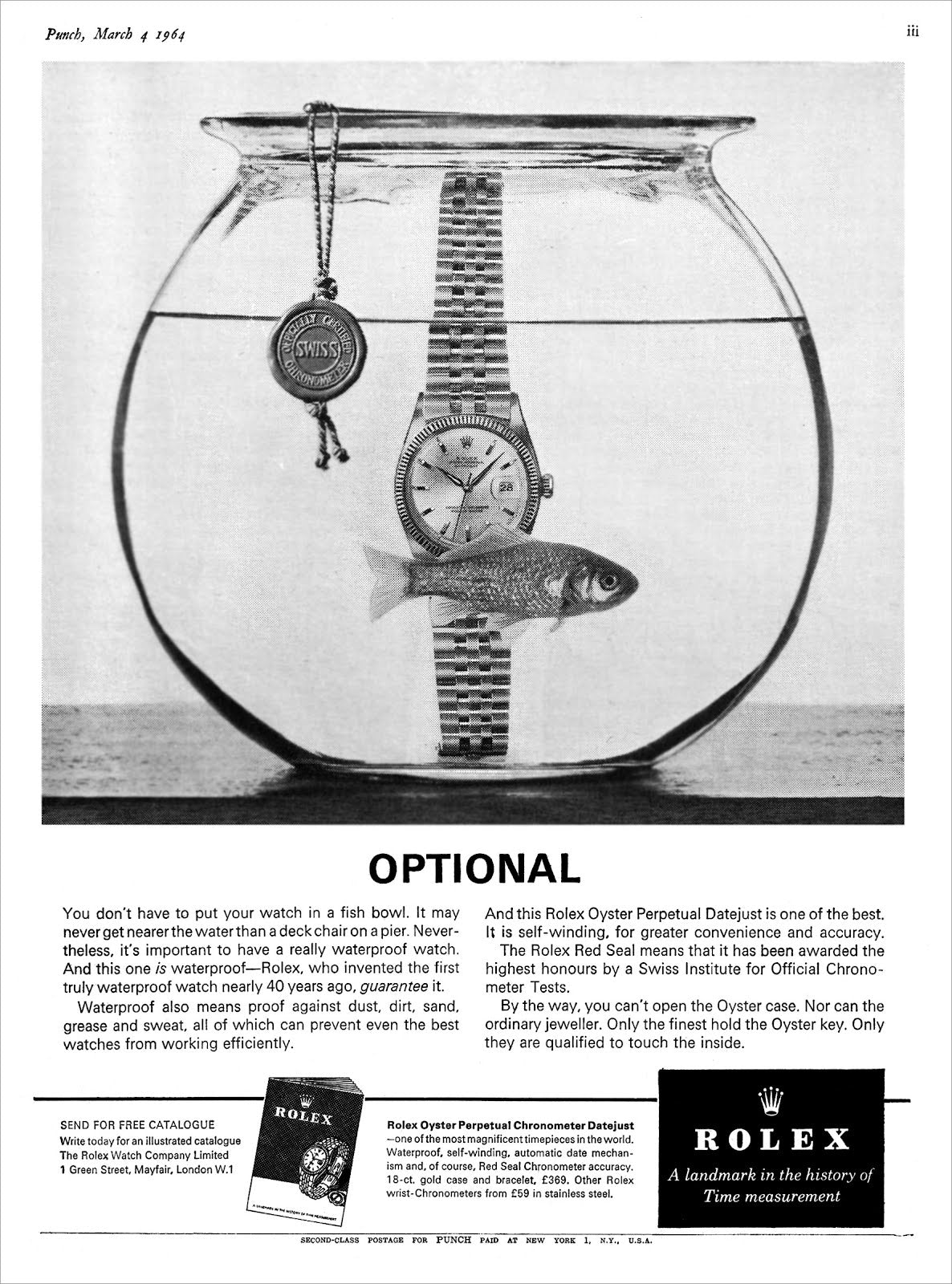 Rolex ad In Four Patents that Changed the Face of Watchmaking for A Collected Man London