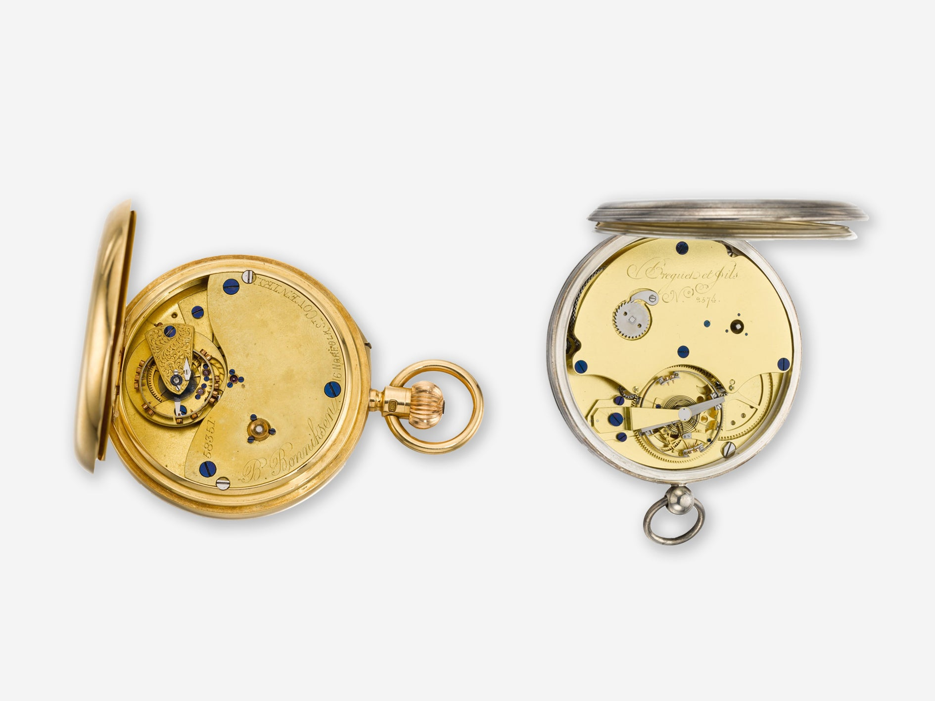Tourbillon and Karrusel vintage pocket watchesIn Four Patents that Changed the Face of Watchmaking for A Collected Man London