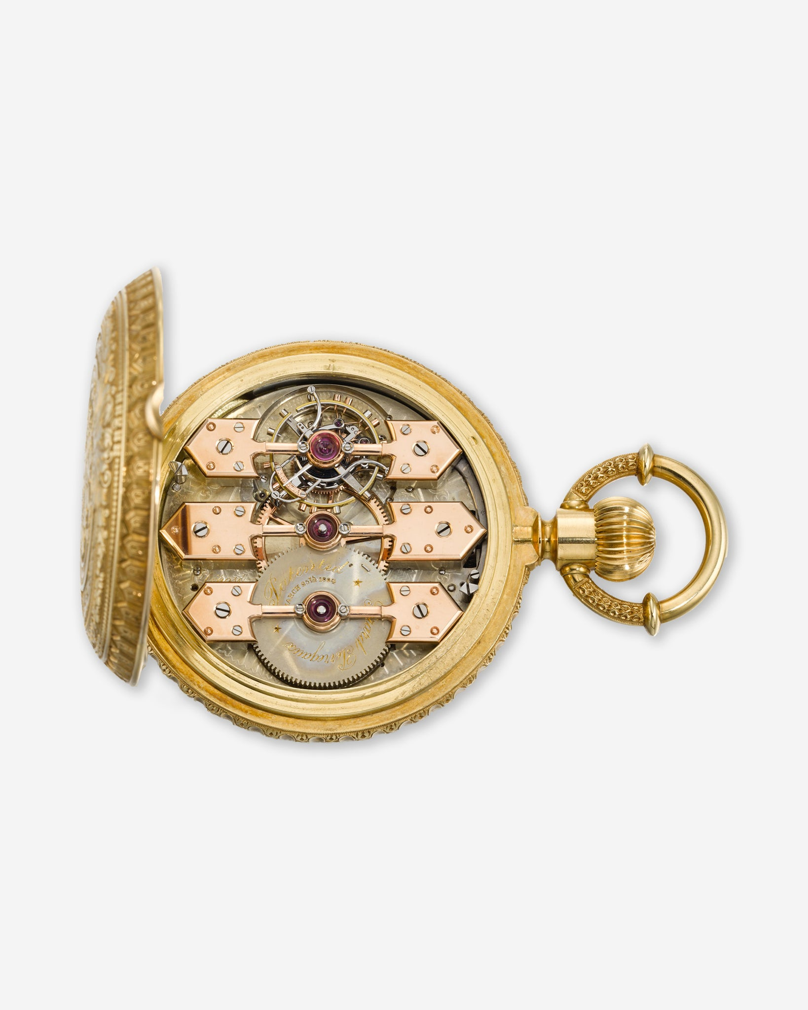 An early Girard-Perregaux three bridges tourbillon movement