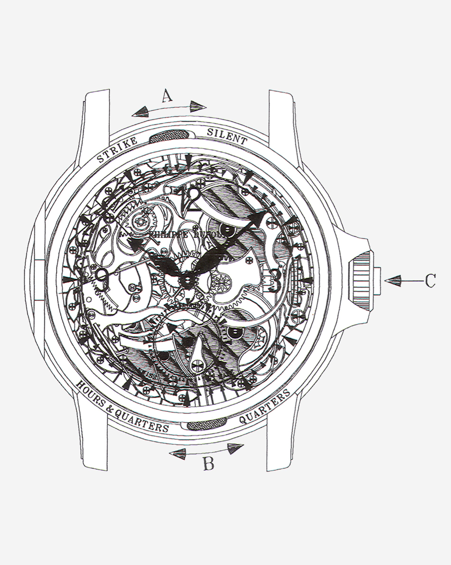 Philippe Dufour Grande Sonnerie Minute-repeater technical drawing from Philippe Dufour for A Collected Man London