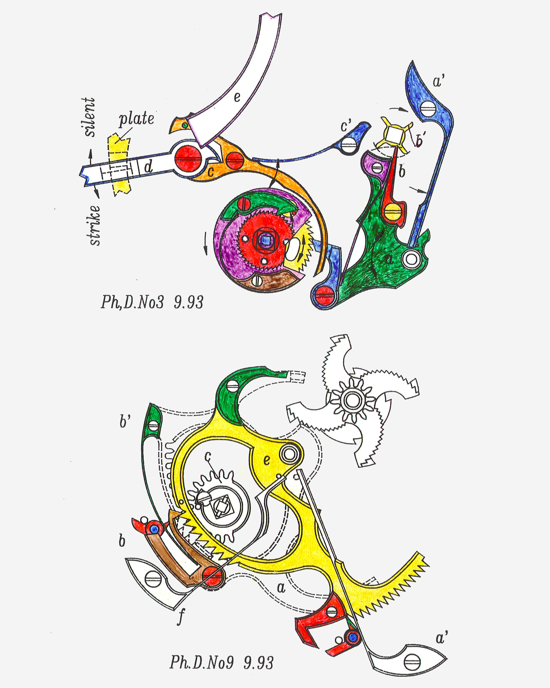 Philippe Dufour Grande Sonnerie minute-repeater technical drawings from Philippe Dufour for A Collected Man London