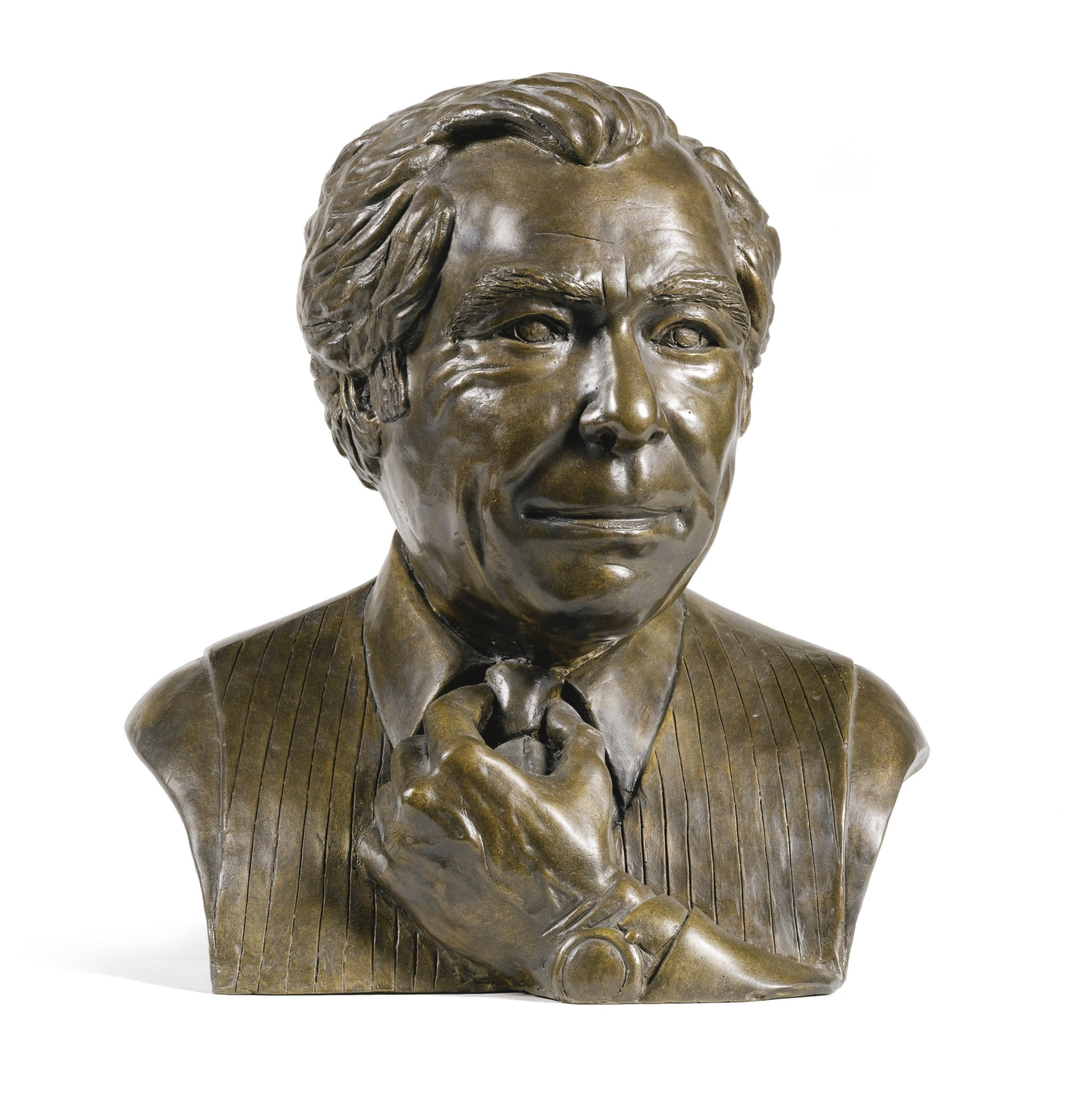 Bronze bust of Daniels by Eduardo Paolozzi in George Daniels the Collector for A Collected Man London