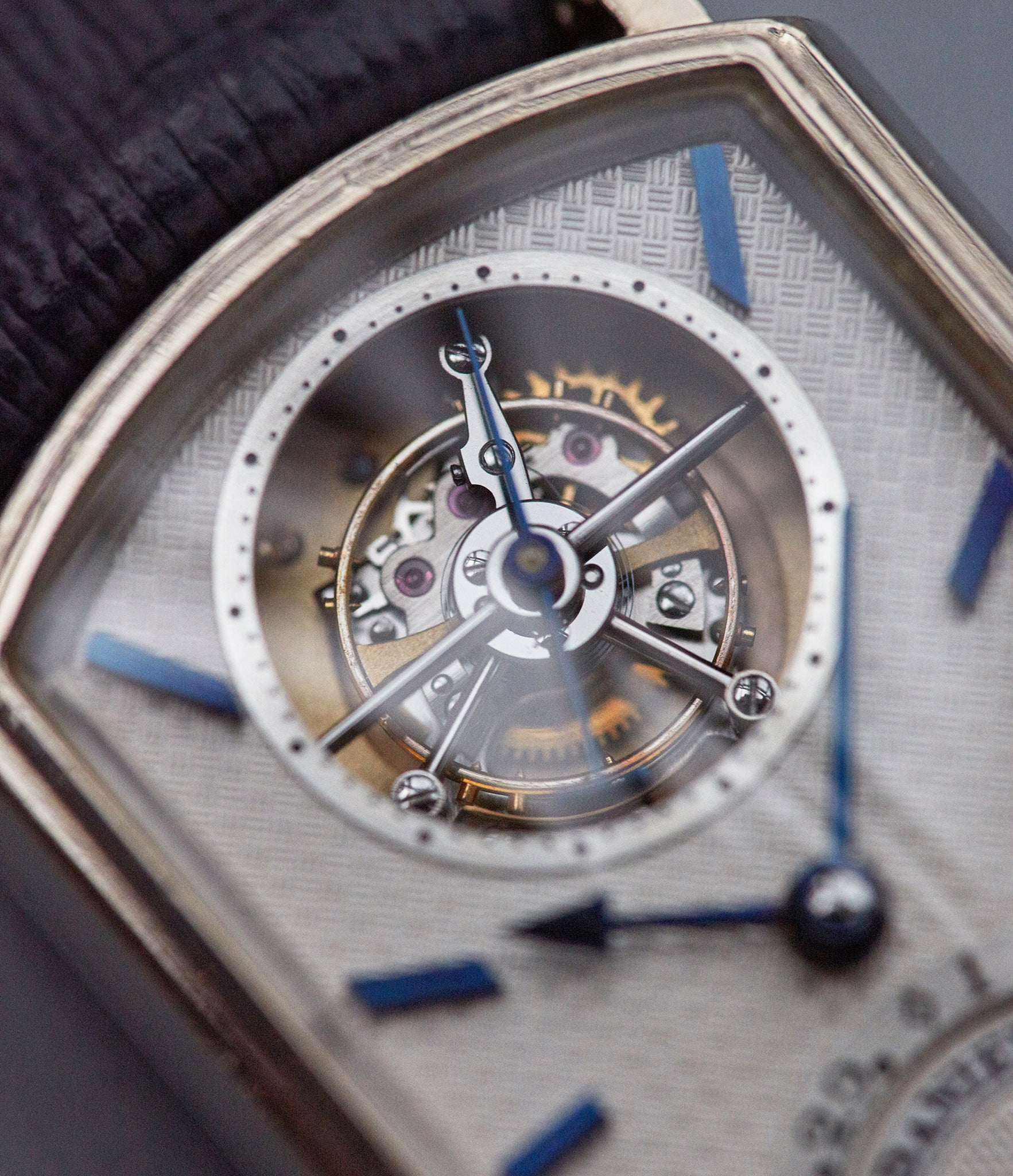 George Daniels Blue tourbillon wristwatch shot by A Collected Man London