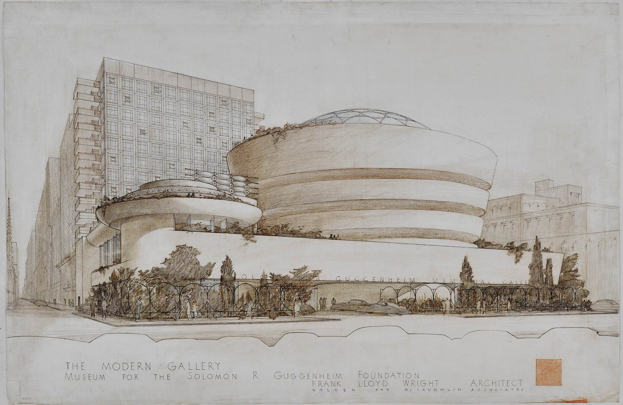 Sketch of the Guggenheim museum by Frank Lloyd Wright