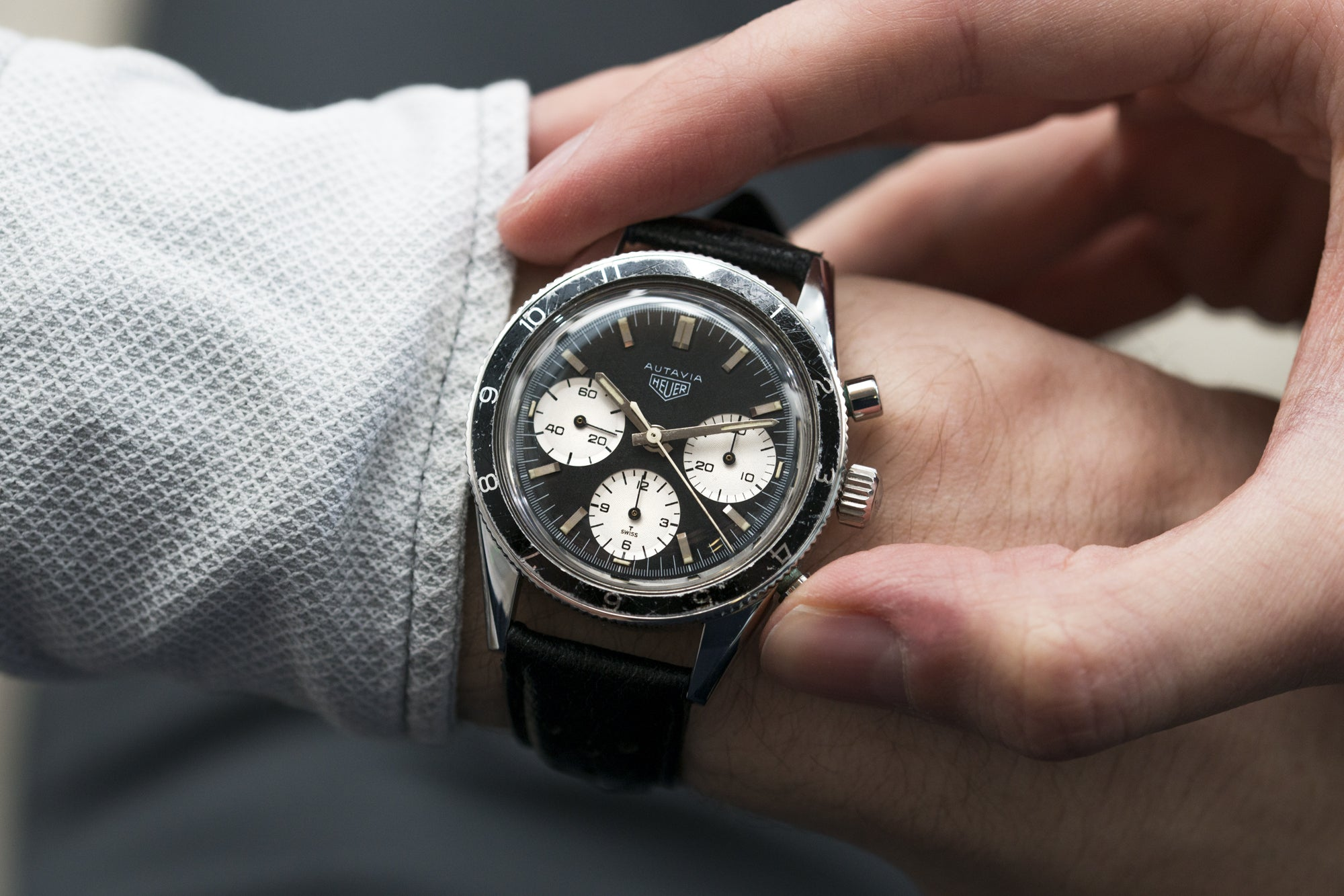 Richard Milner's vintage Heuer Autavia 'Jochen Rindt' ref. 2446 at A Collected Man London