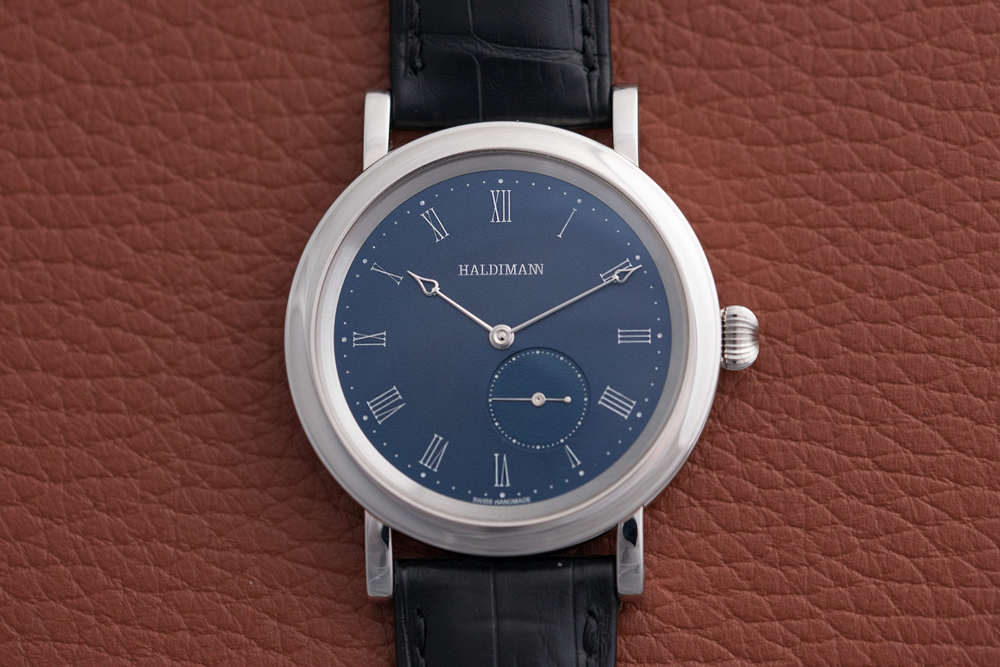 Haldimann H12 with sub-seconds watch at A Collected Man - approved seller of independent watchmakers