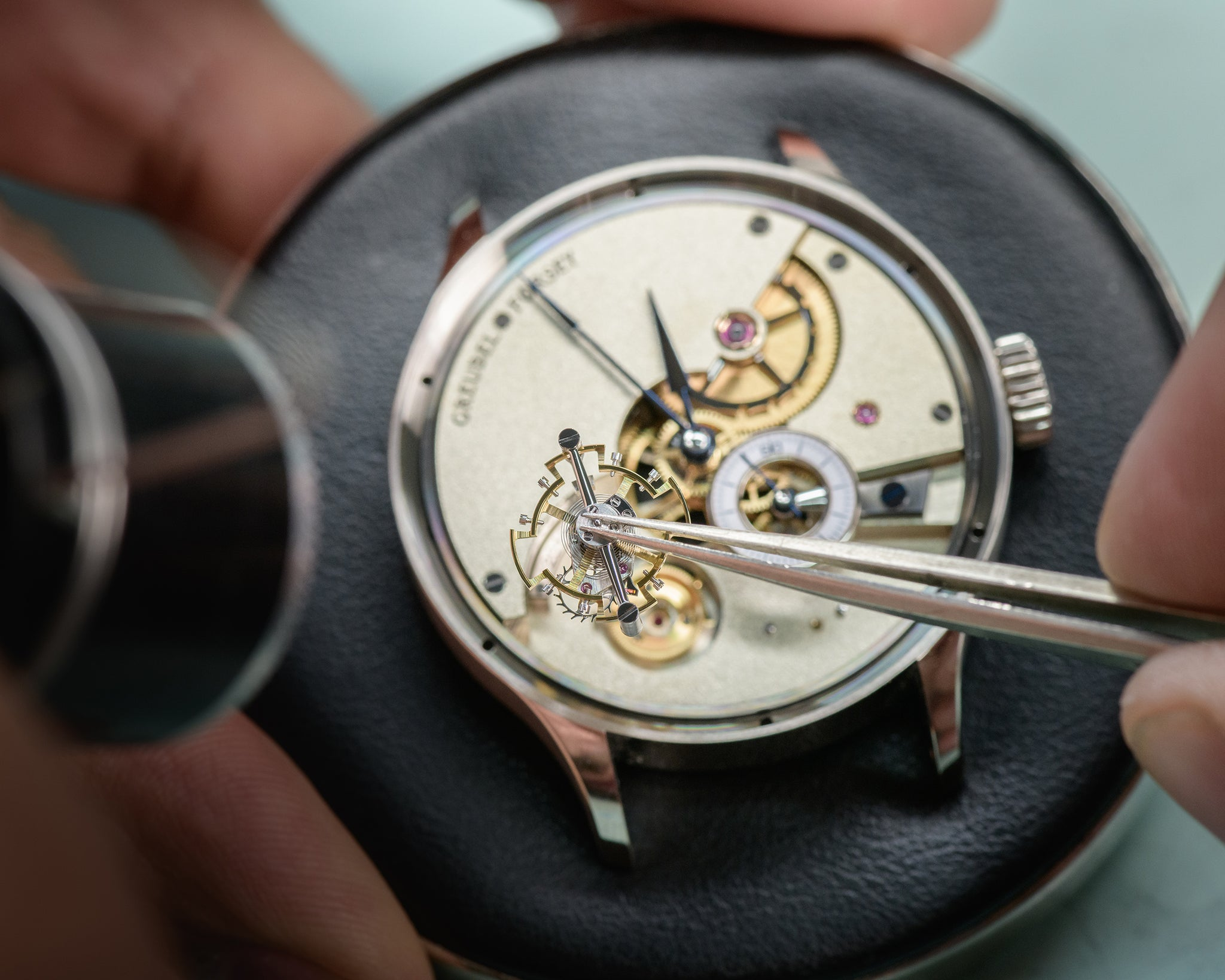 Greubel Forsey hand Made one setting of the tourbillon by hand
