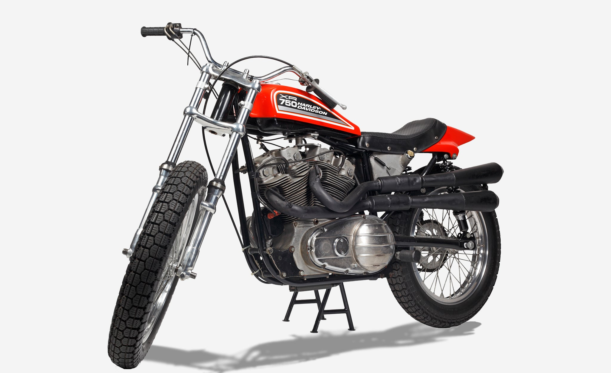 Harley Davidson XR750 motorcycle in red
