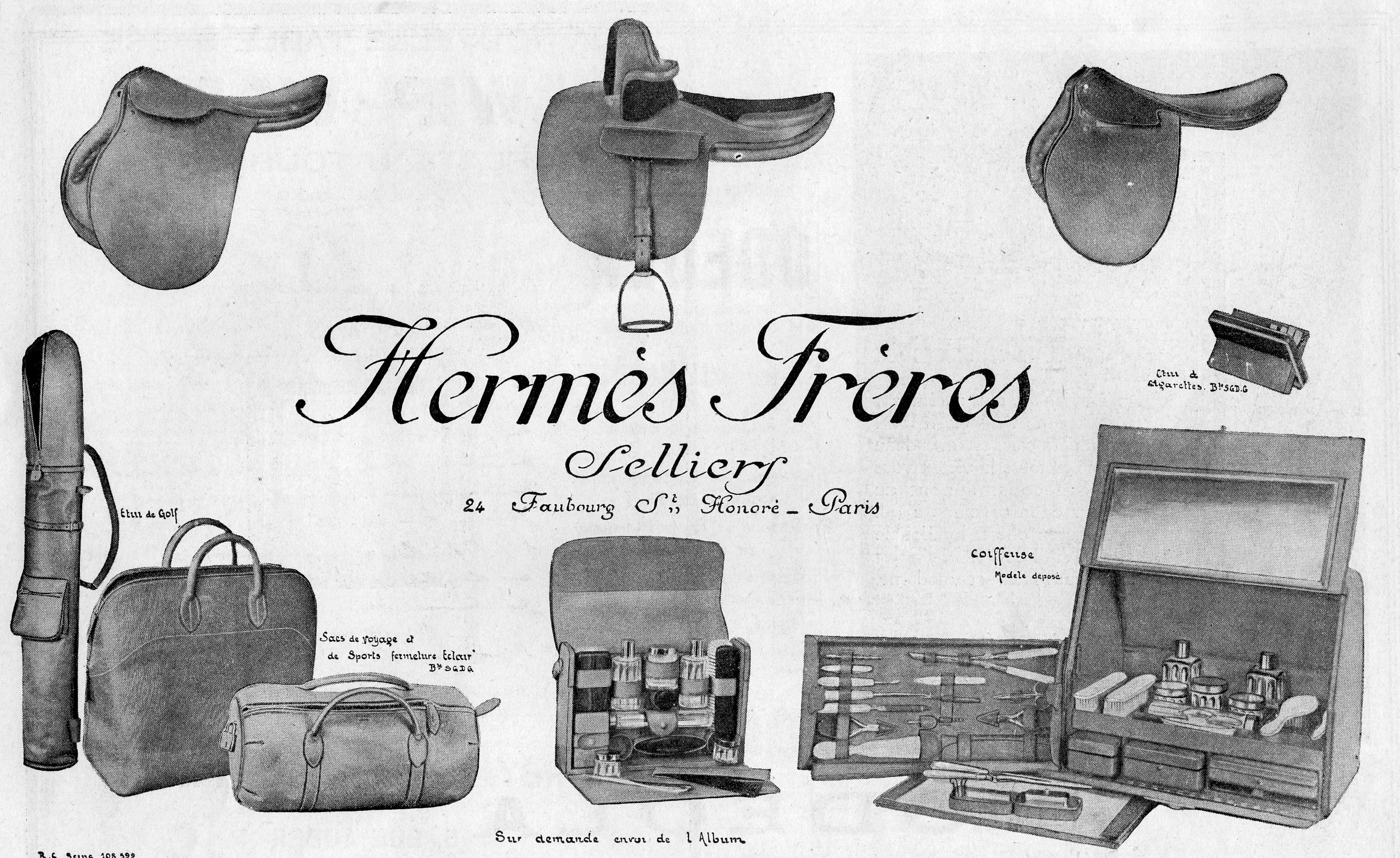 1923 advertisement in How Hermès became the Masters of Leather for A Collected Man London