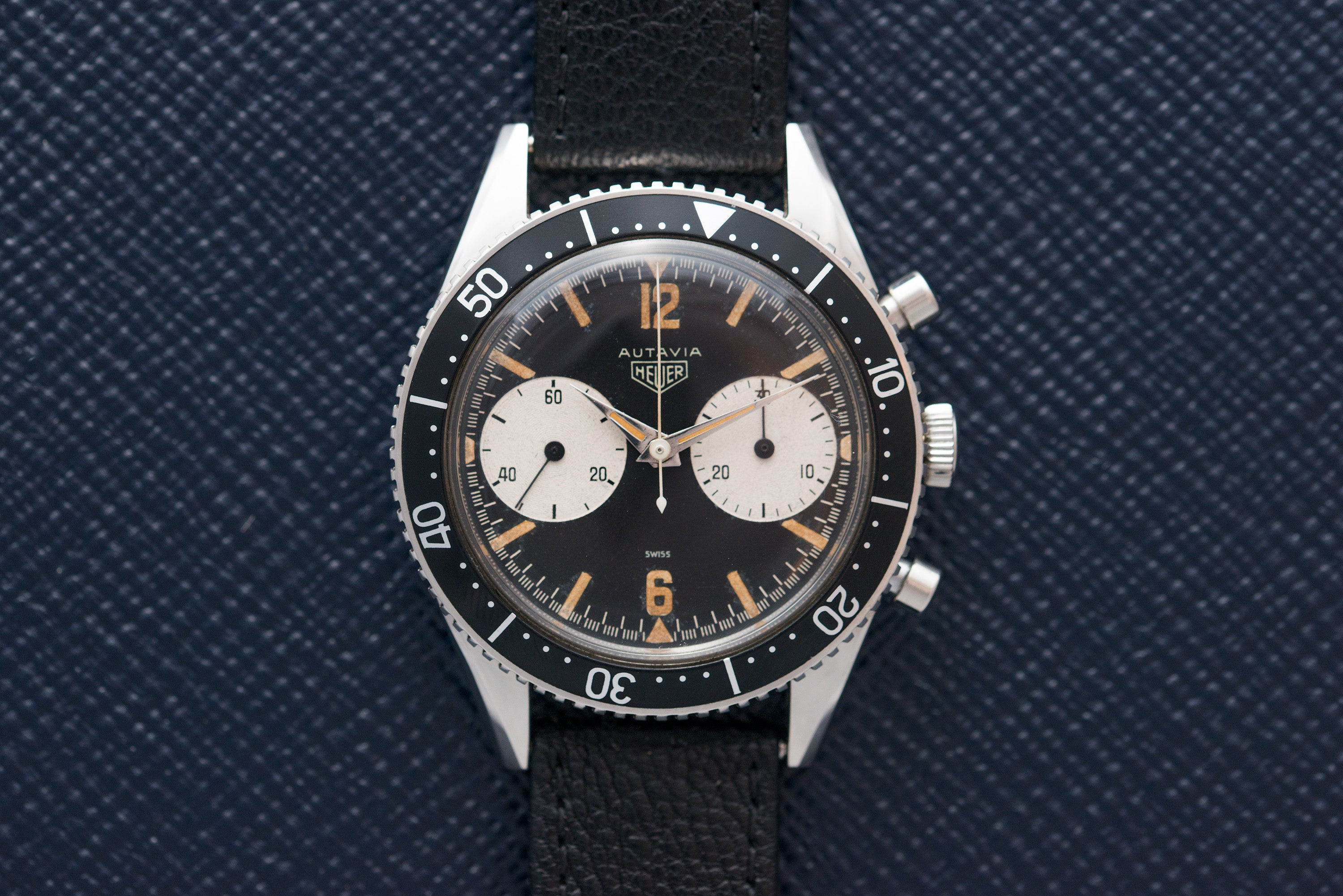 Heuer Autavia 3646 steel vintage chronograph at A Collected Man - seller of rare vintage watches