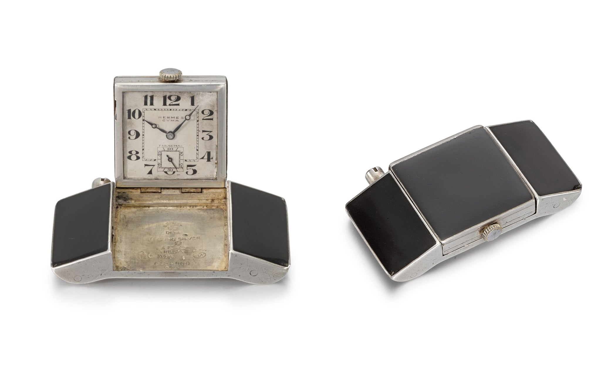 A Silver Hermes Belt Buckle Watch with Enamel Panelling in Our Favourite Horological Objects for A Collected Man London