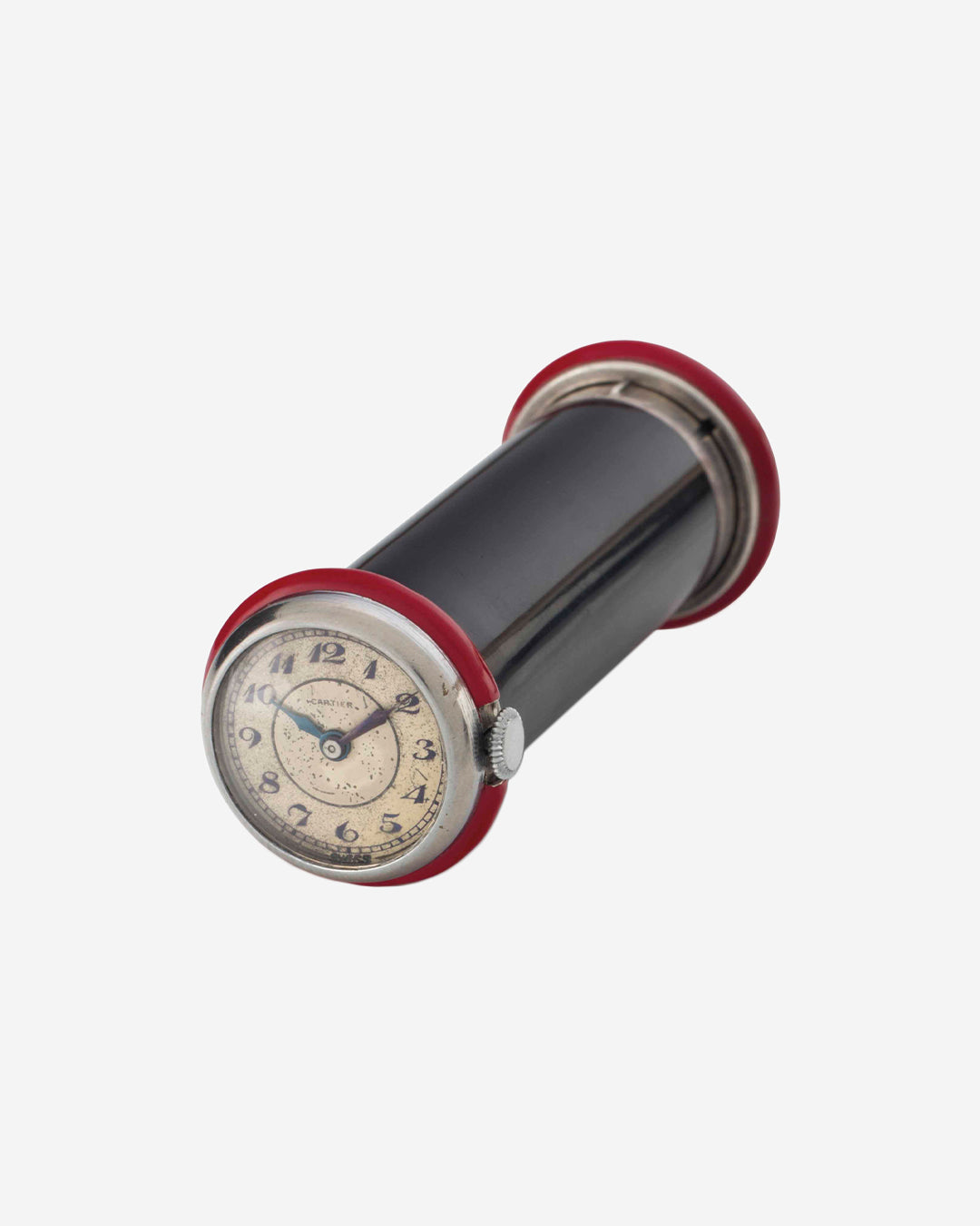 A Cartier Lipstick Holder with Round Watch at the End in Our Favourite Horological Objects for A Collected Man London